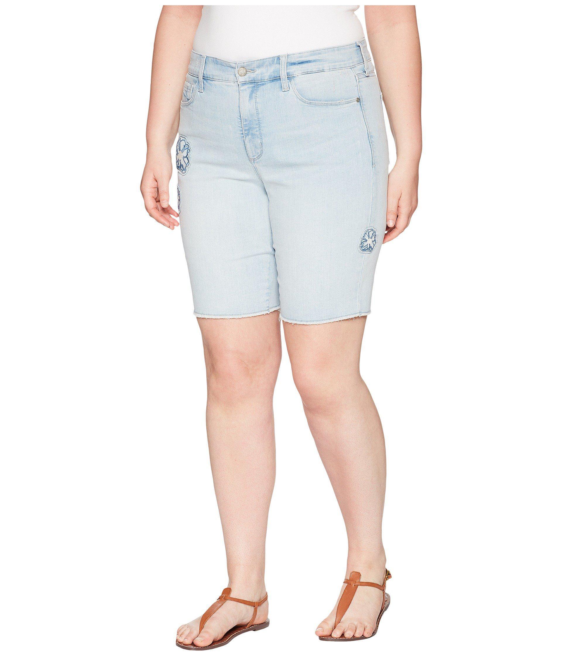260b09a55b Lyst - NYDJ Plus Size Briella Shorts Dream Blossom In Palm Desert in Blue -  Save 18%