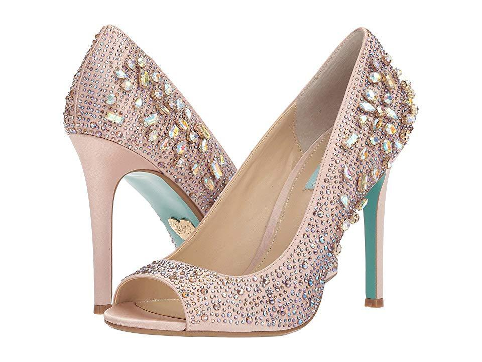 91246b923a Betsey Johnson Brook (nude Satin) High Heels in Natural - Save 26 ...