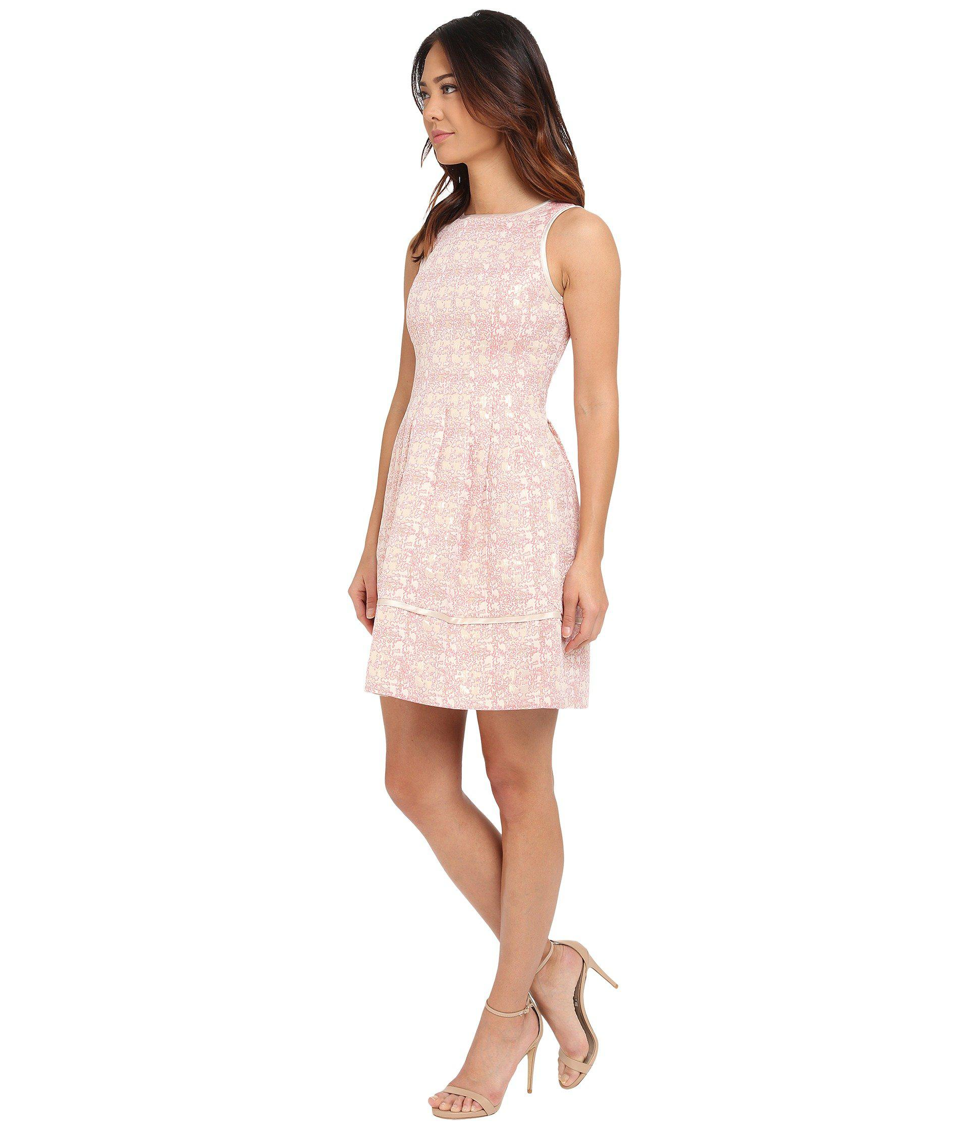 Vince Camuto Sleeveless Fit And Flare With Release Pleats