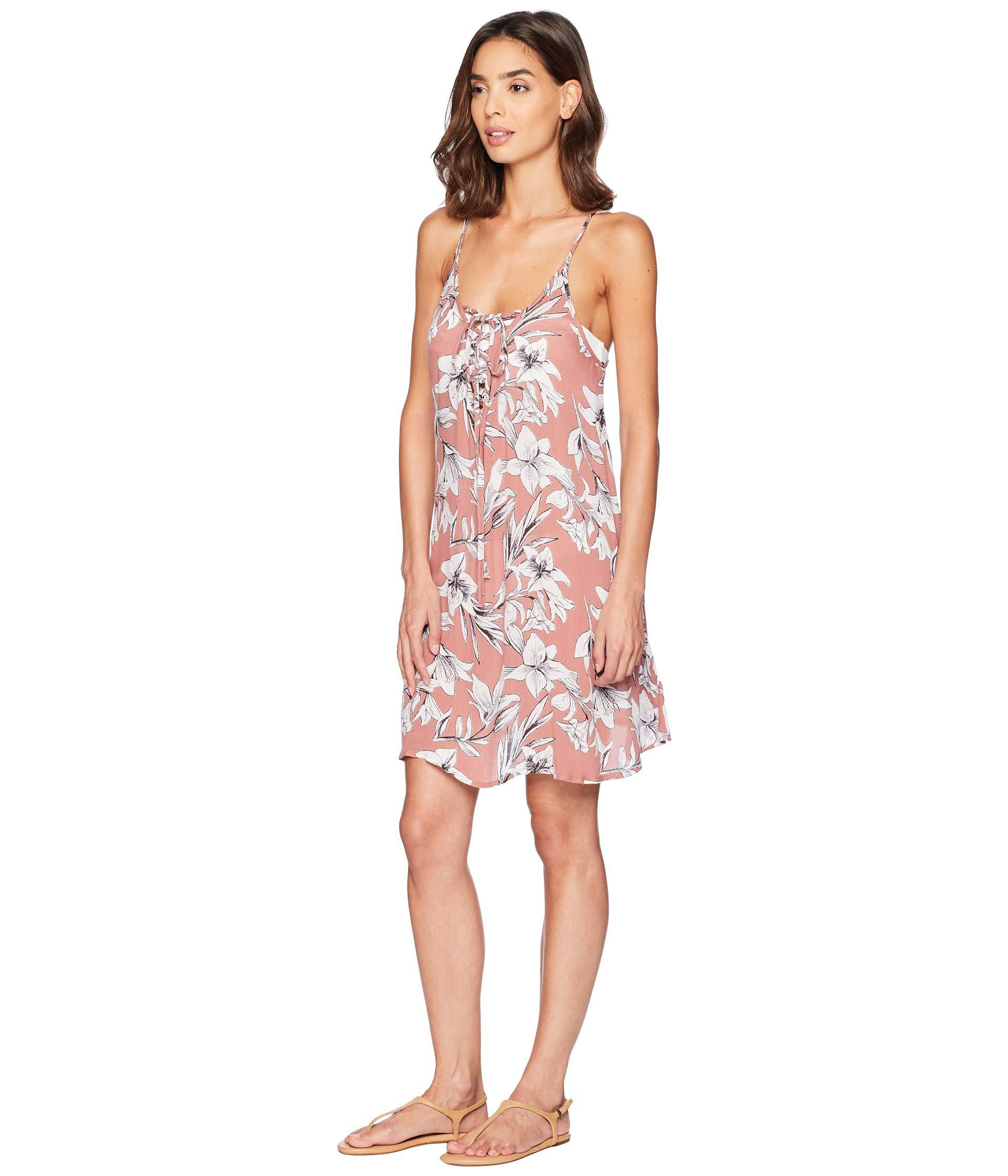 b849121ac0 Lyst - Roxy Softly Love Printed Dress Cover-up in Pink - Save 51%