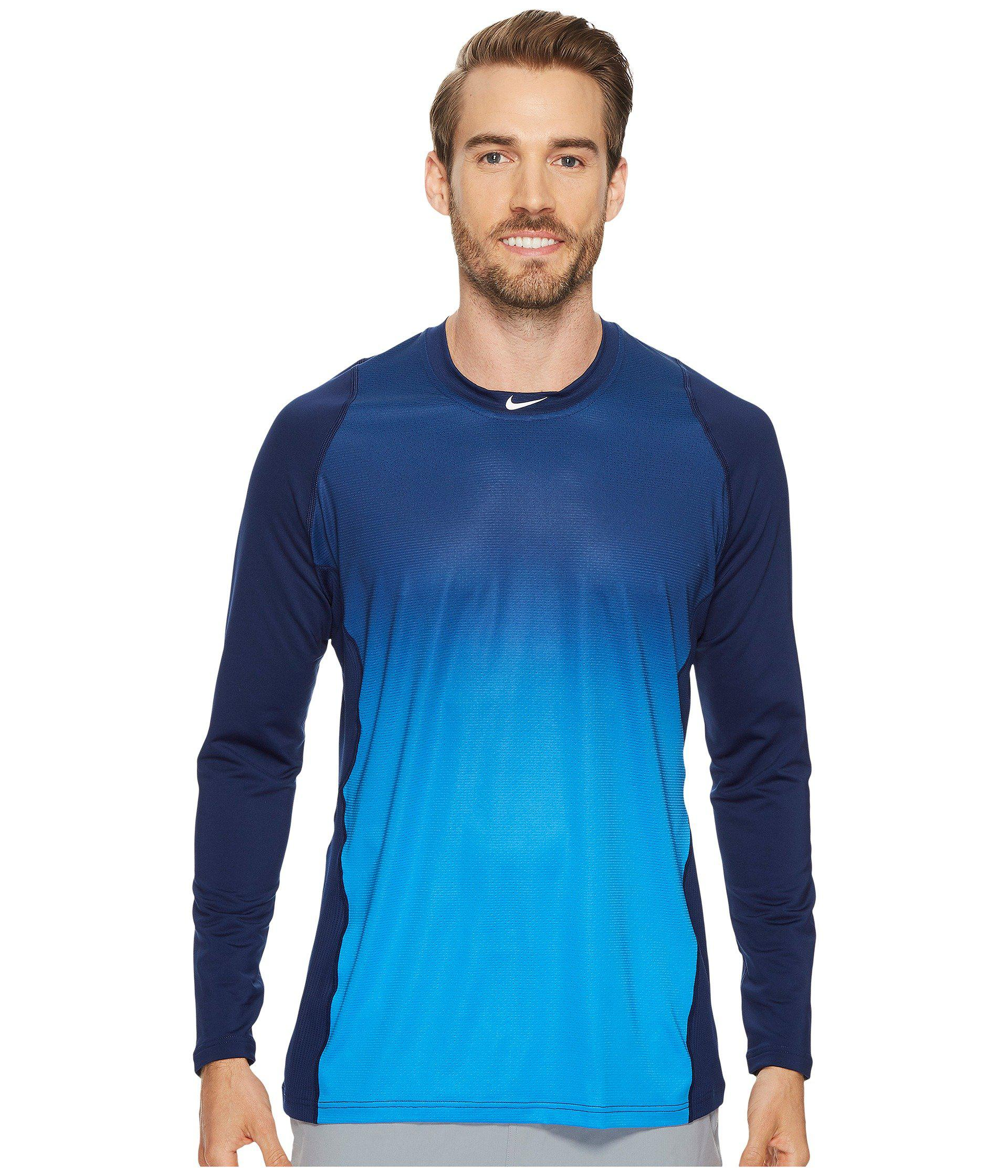 c50f48371c525 Lyst - Nike Pro Hypercool Players Training Top in Blue for Men ...
