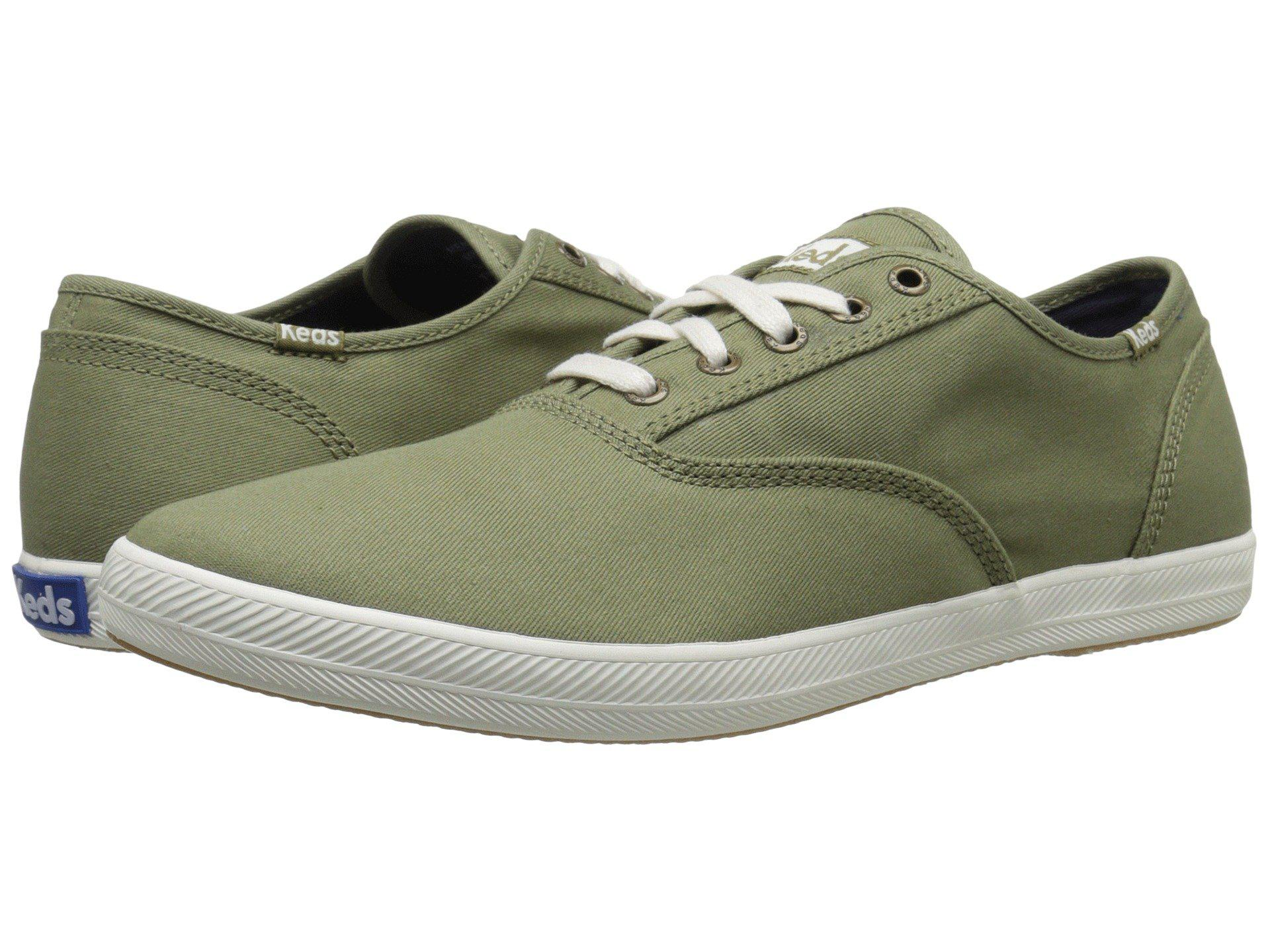 235f2a3128 Keds Champion Solid Army Twill Sneaker in Green for Men - Lyst