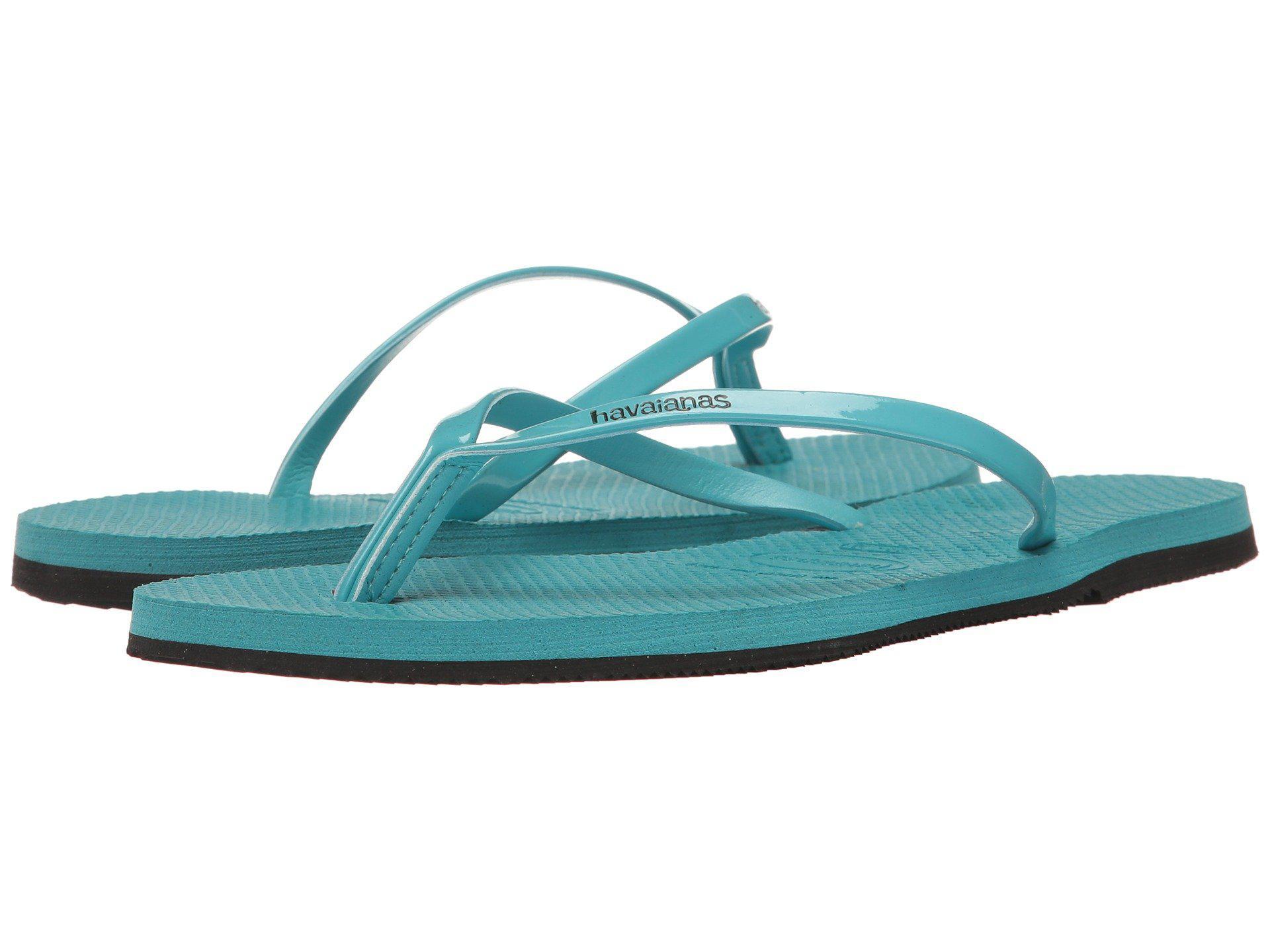 b9dfcfc6c9e916 Lyst - Havaianas You Metallic Flip Flops in Blue