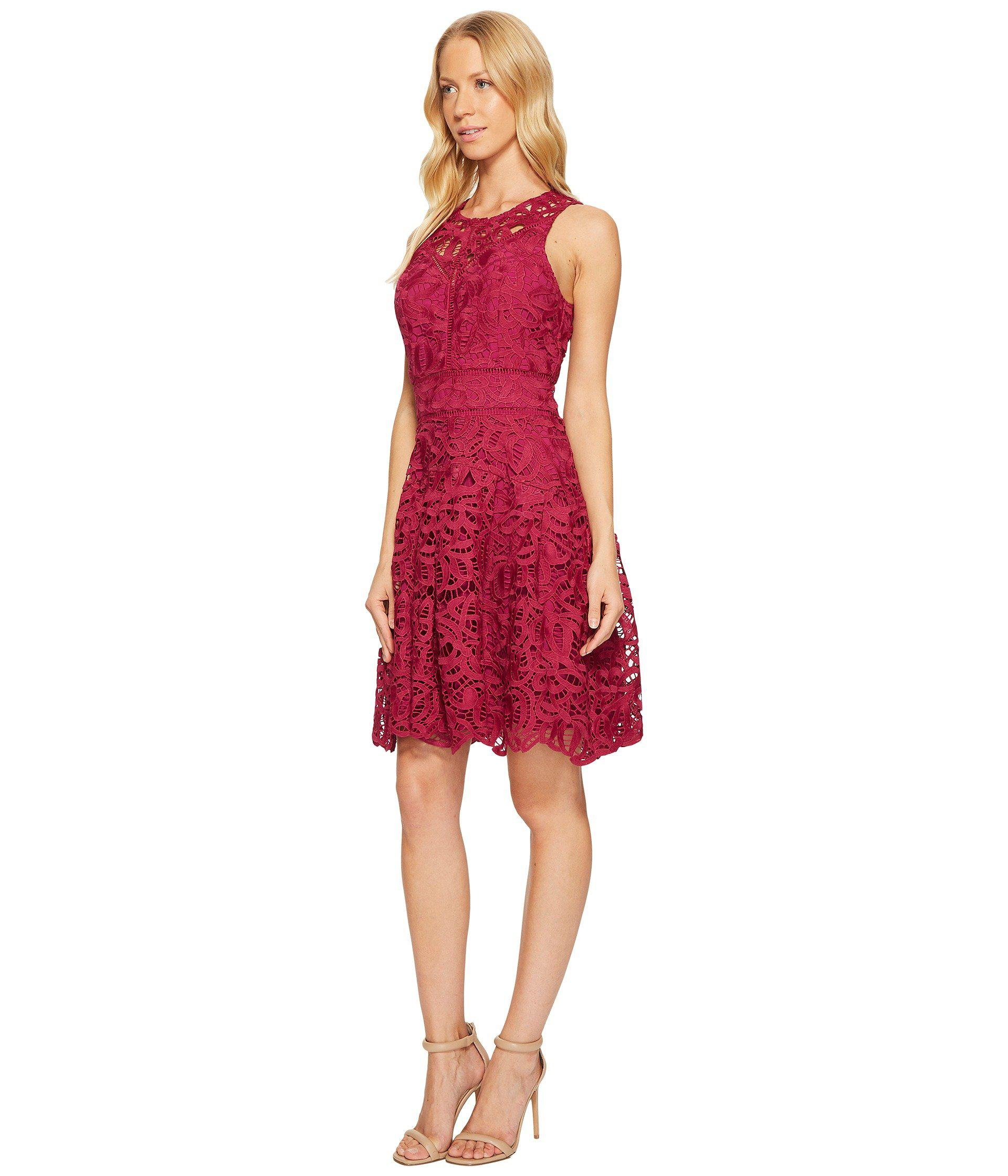 Lyst Adelyn Rae Dylan Fit And Flare Dress In Red