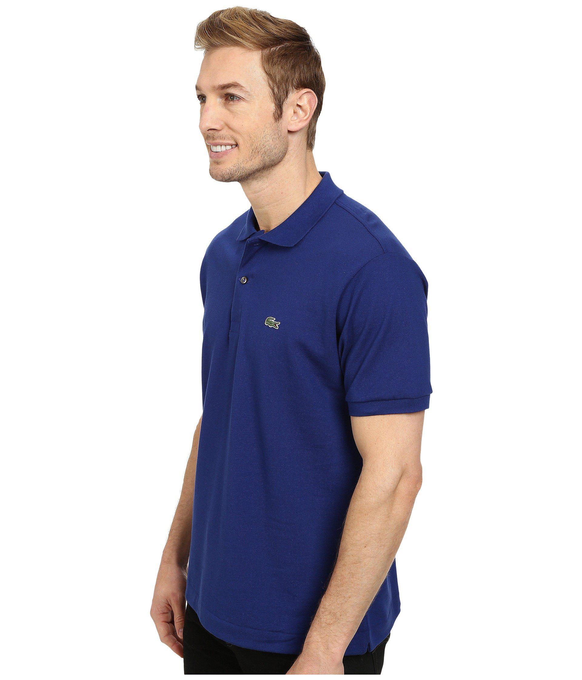 e7e9595d Lyst - Lacoste L1212 Classic Pique Polo Shirt in Blue for Men