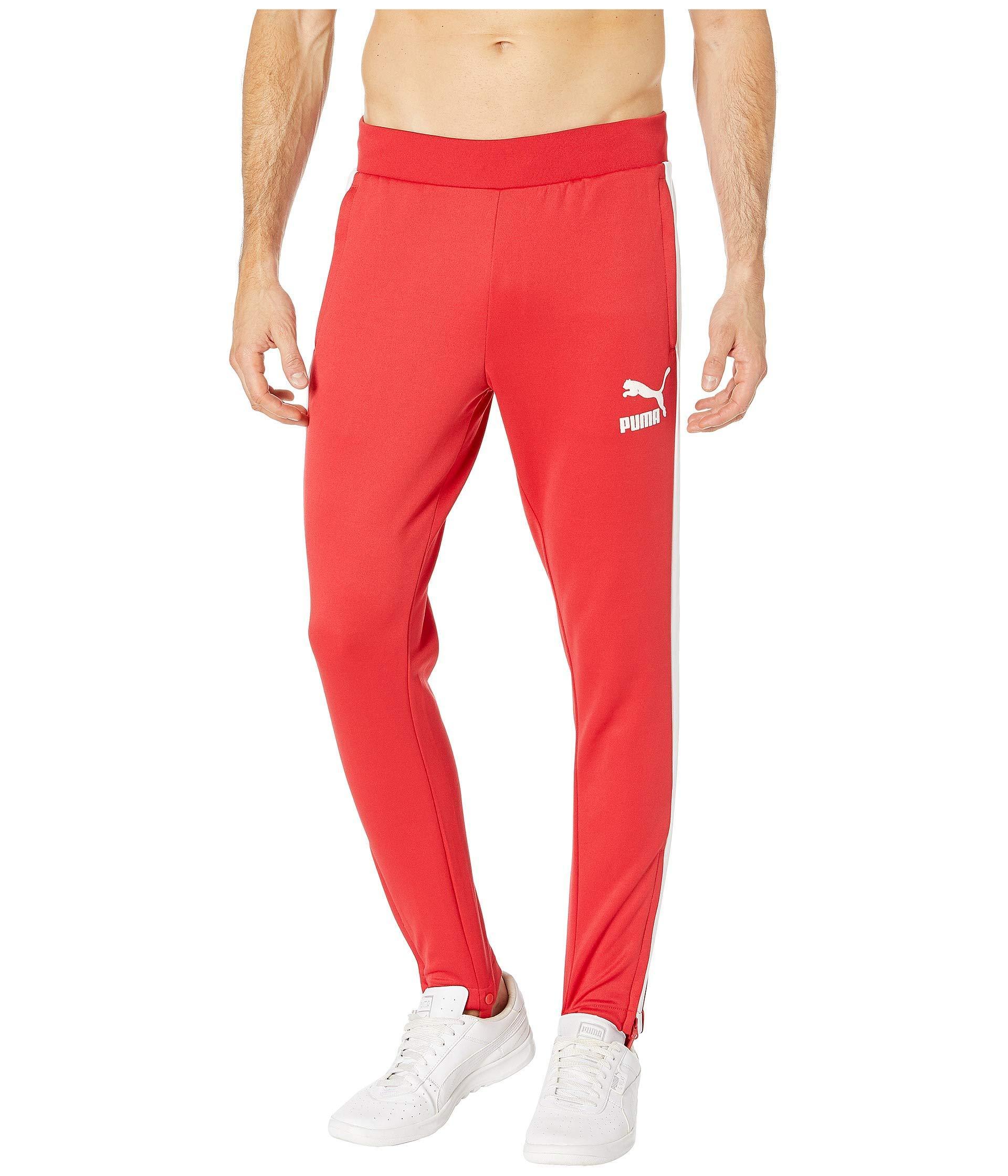 8f62eead0cc4 PUMA - Red T7 Vintage Track Pants for Men - Lyst. View fullscreen