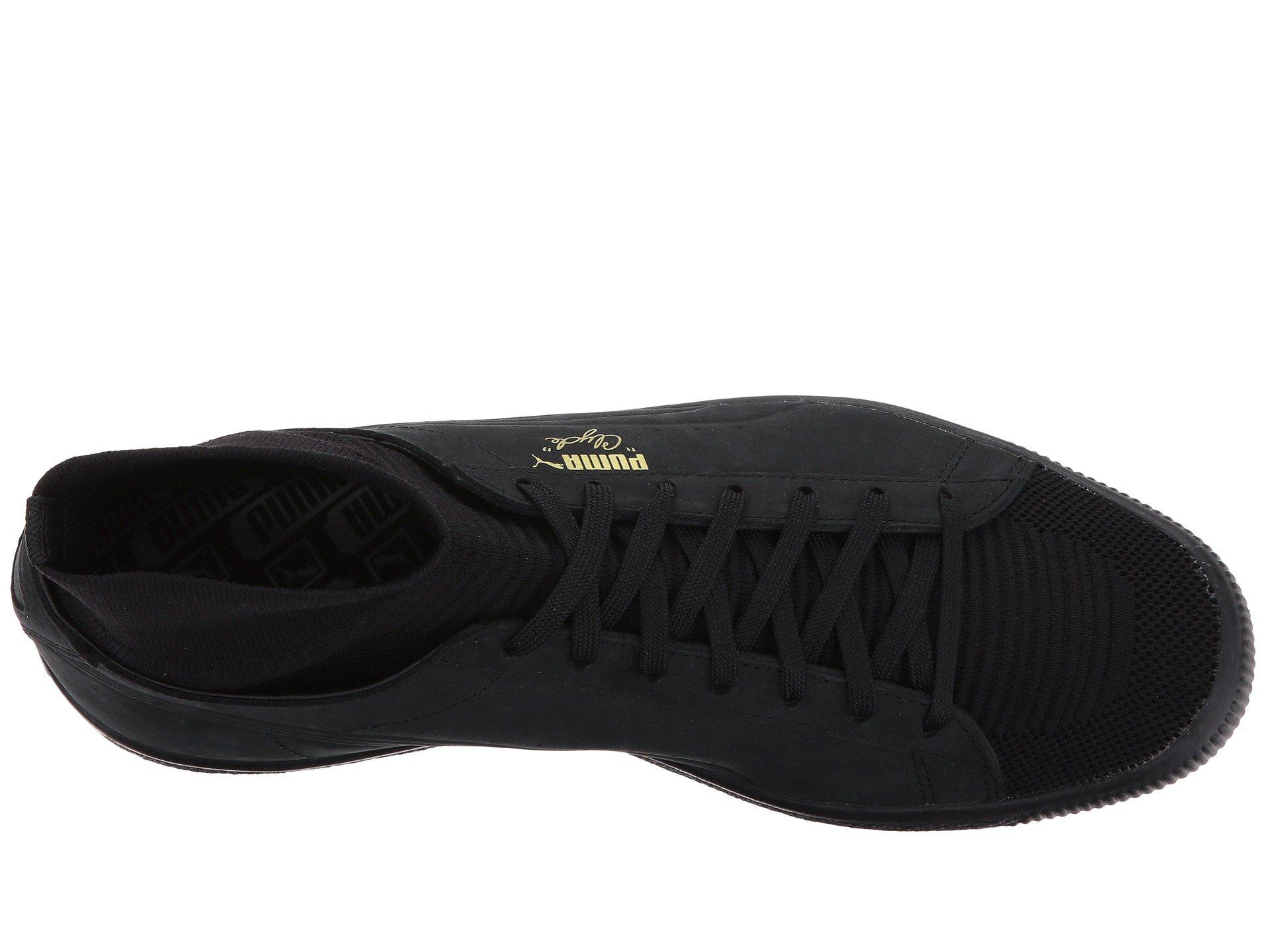 wholesale dealer 99a84 624ff PUMA - Black Clyde Sock Select for Men - Lyst. View fullscreen