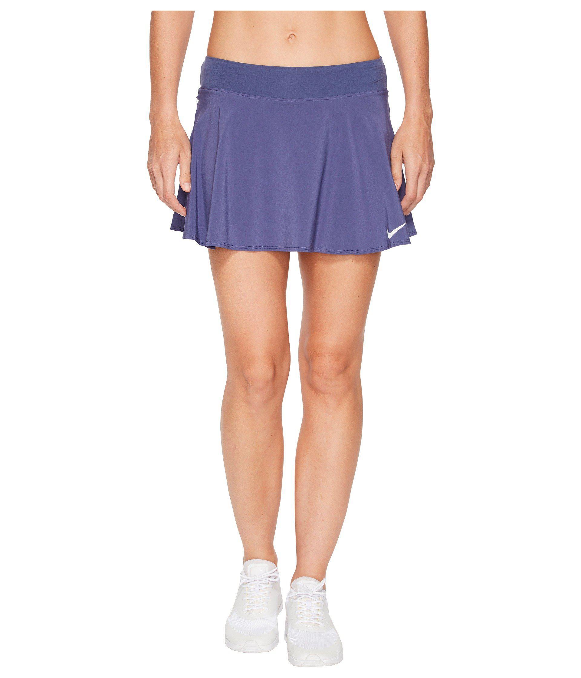 b94112d2e01 Lyst - Nike Court Flex Pure Tennis Skirt in Blue - Save 37%