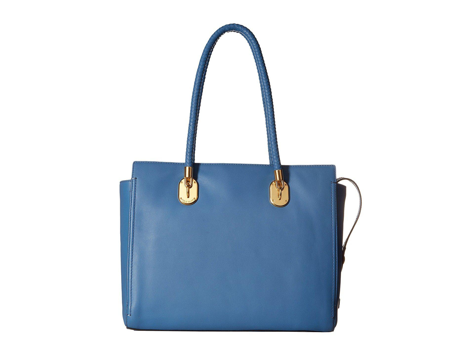 a2e42563136 Cole Haan Benson Ii Work Tote in Blue - Lyst