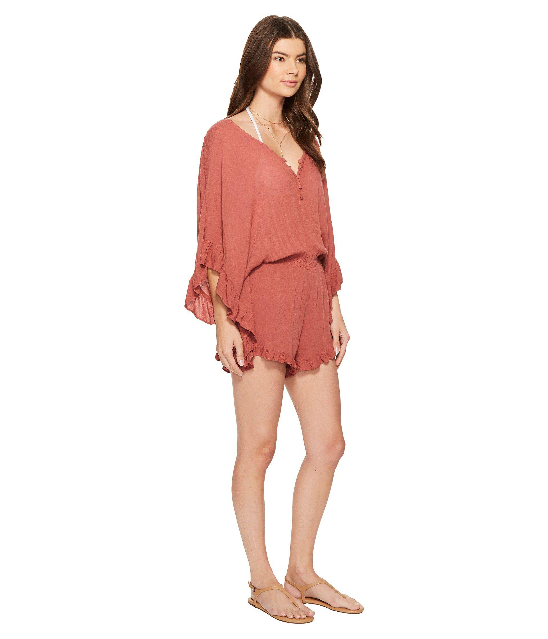 50c943bc579 Lyst - L Space Emily Romper Cover-up in Red