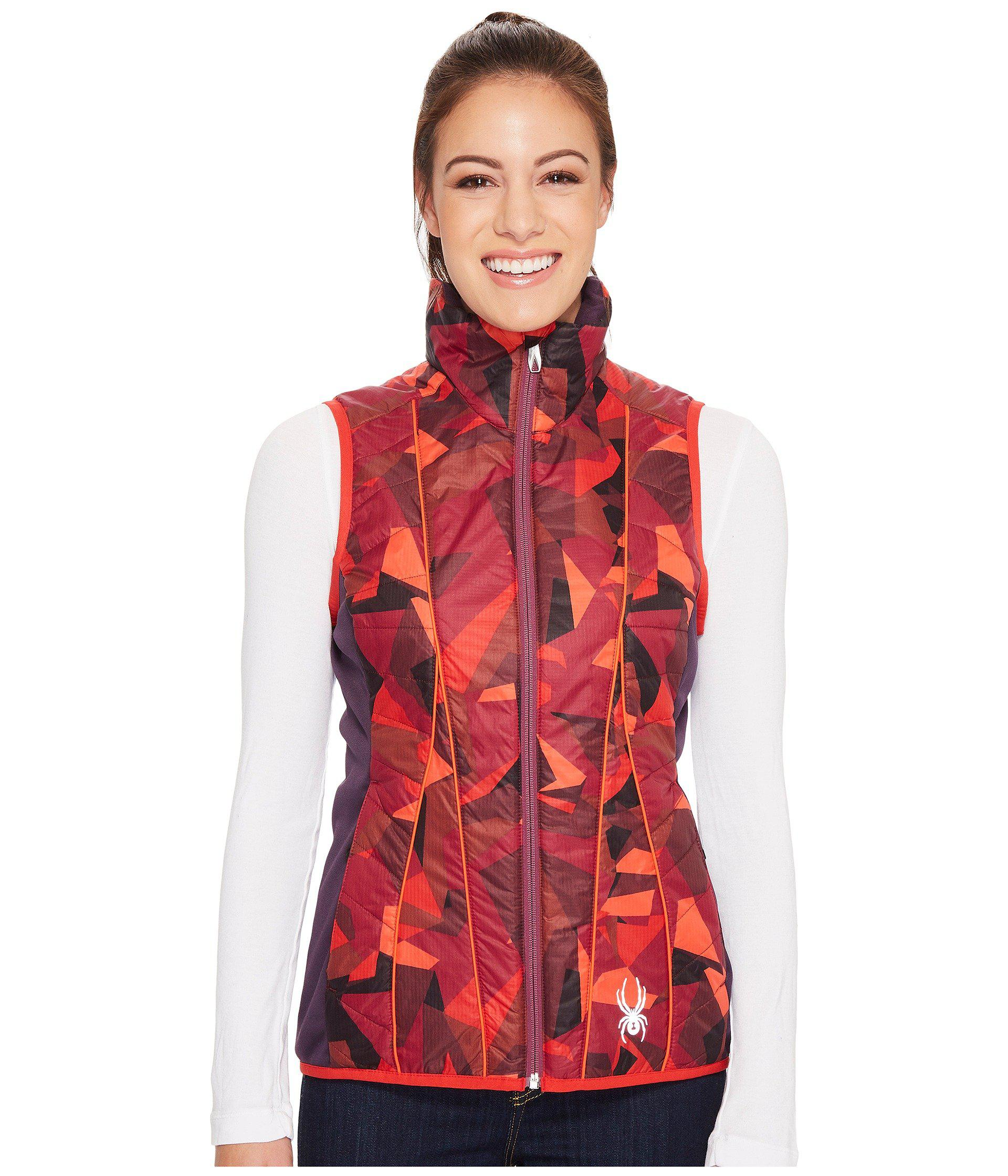 6fed55cd42a6a Lyst - Spyder Glissade Insulator Vest in Red