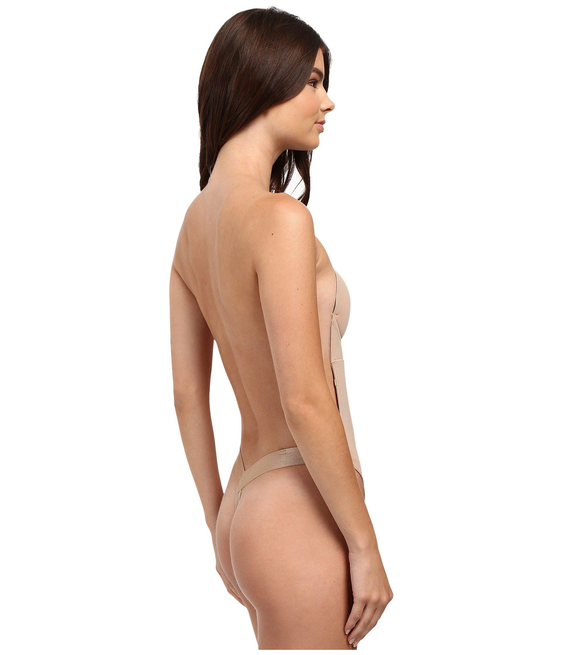 04314ec08db Fashion Forms U Plunge Backless Strapless Bodysuit in Natural - Lyst