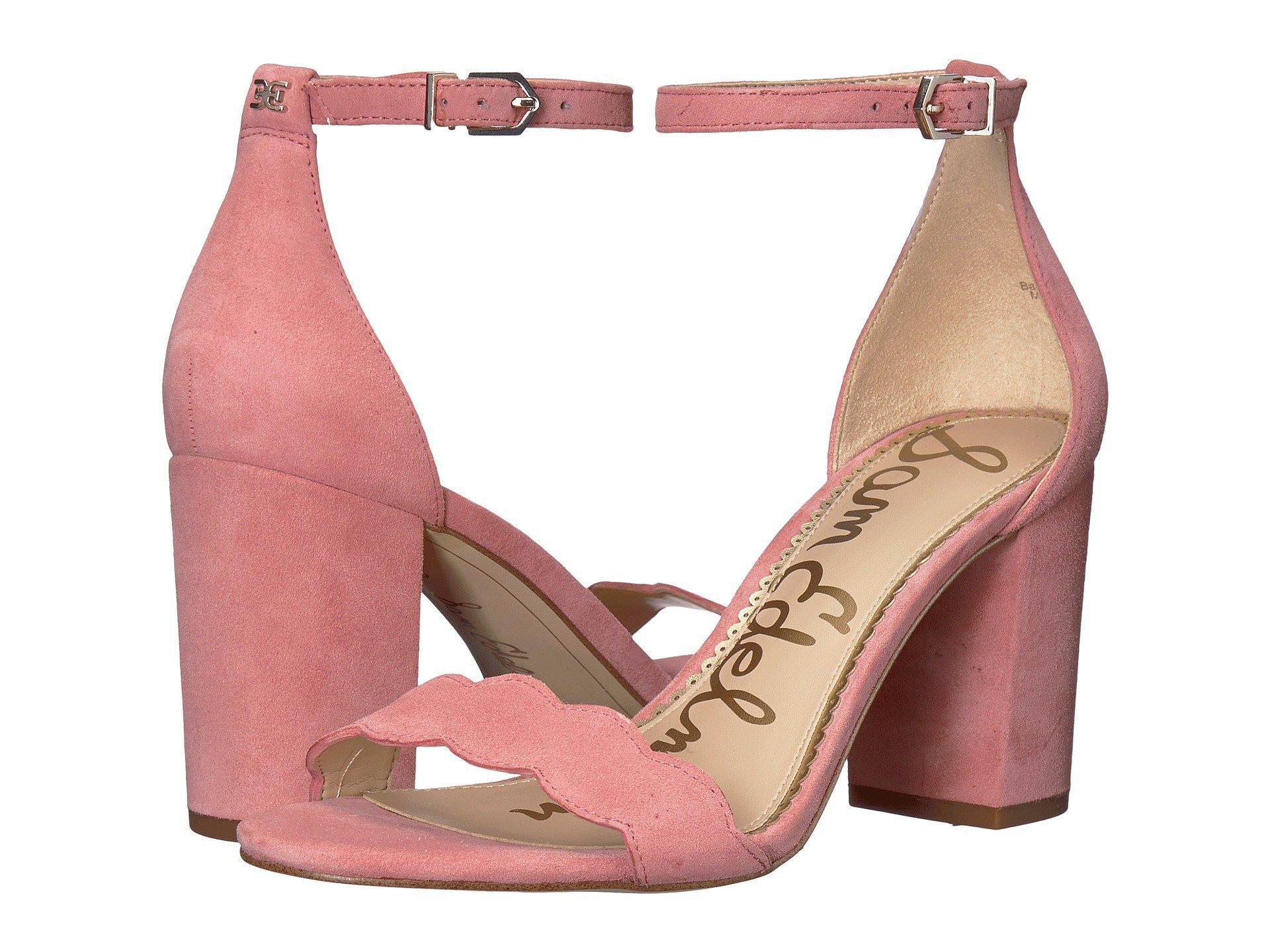 550f56caa6ff38 Lyst - Sam Edelman Odila Ankle Strap Sandal Heel in Pink - Save 35%