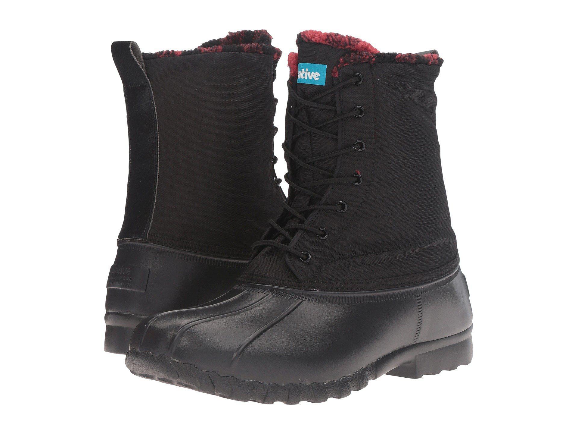 Native Shoes. Men's Black Jimmy Winter