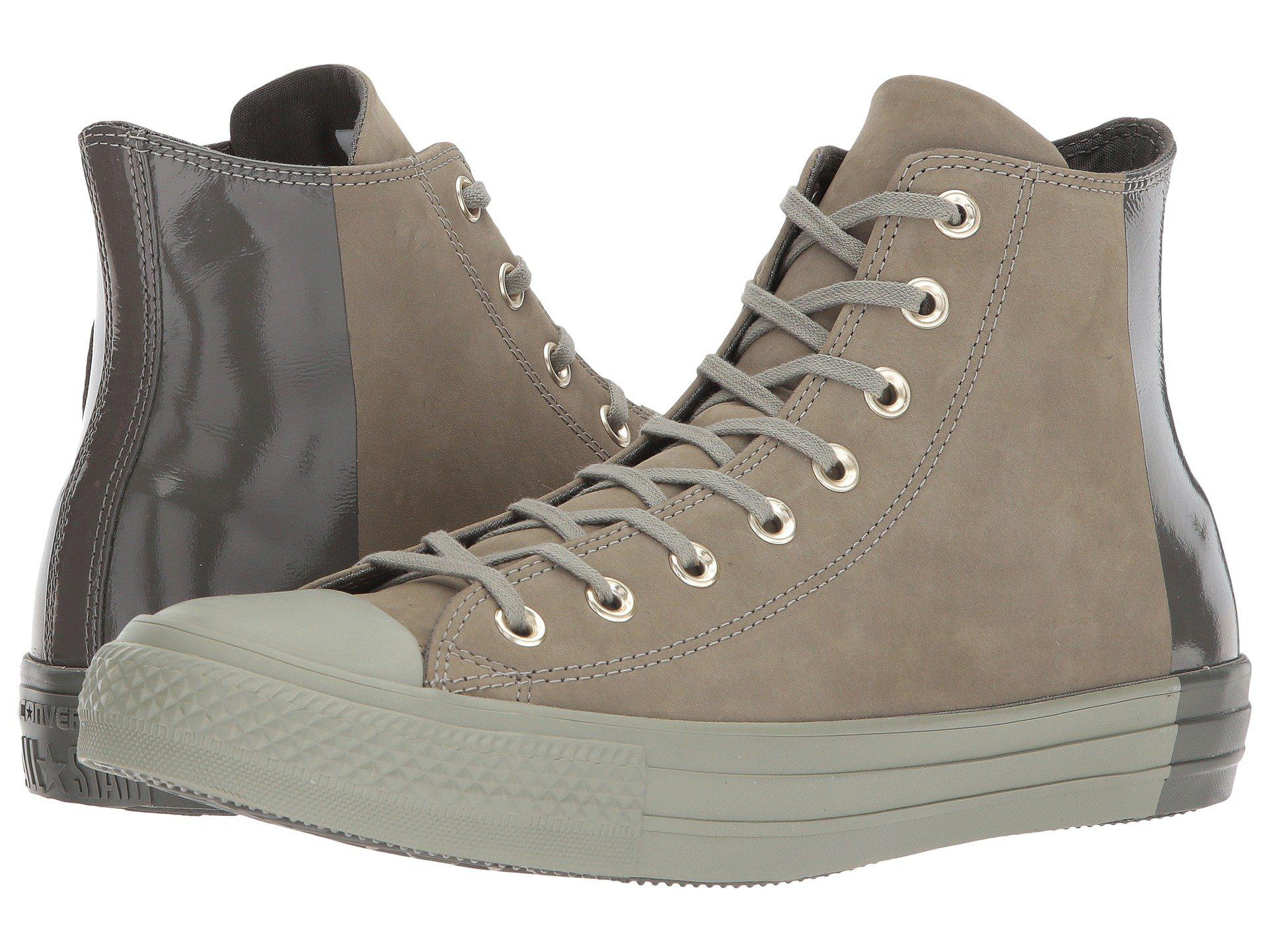 91cdae8754865a Lyst - Converse Chuck Taylor® All Star Color Block Nubuck Hi in Gray