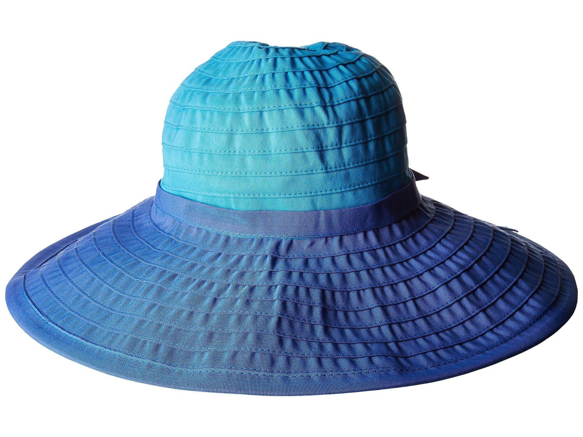 8a235c9366377 Lyst - San Diego Hat Company Rbl299os Ribbon Bow Floppy in Blue ...