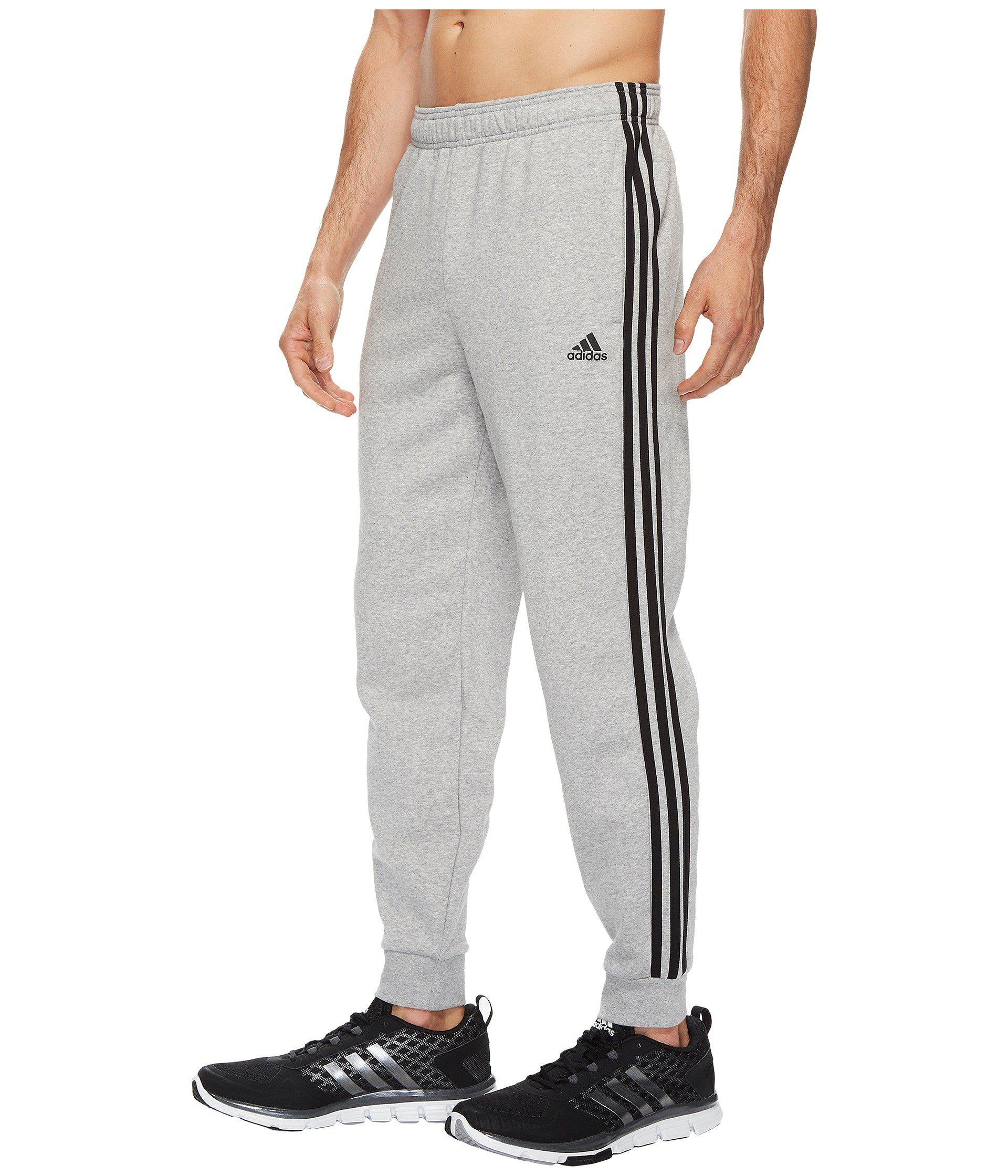 34301574a050 Adidas - Gray Essentials 3s Tapered   Cuffed Pants for Men - Lyst. View  fullscreen