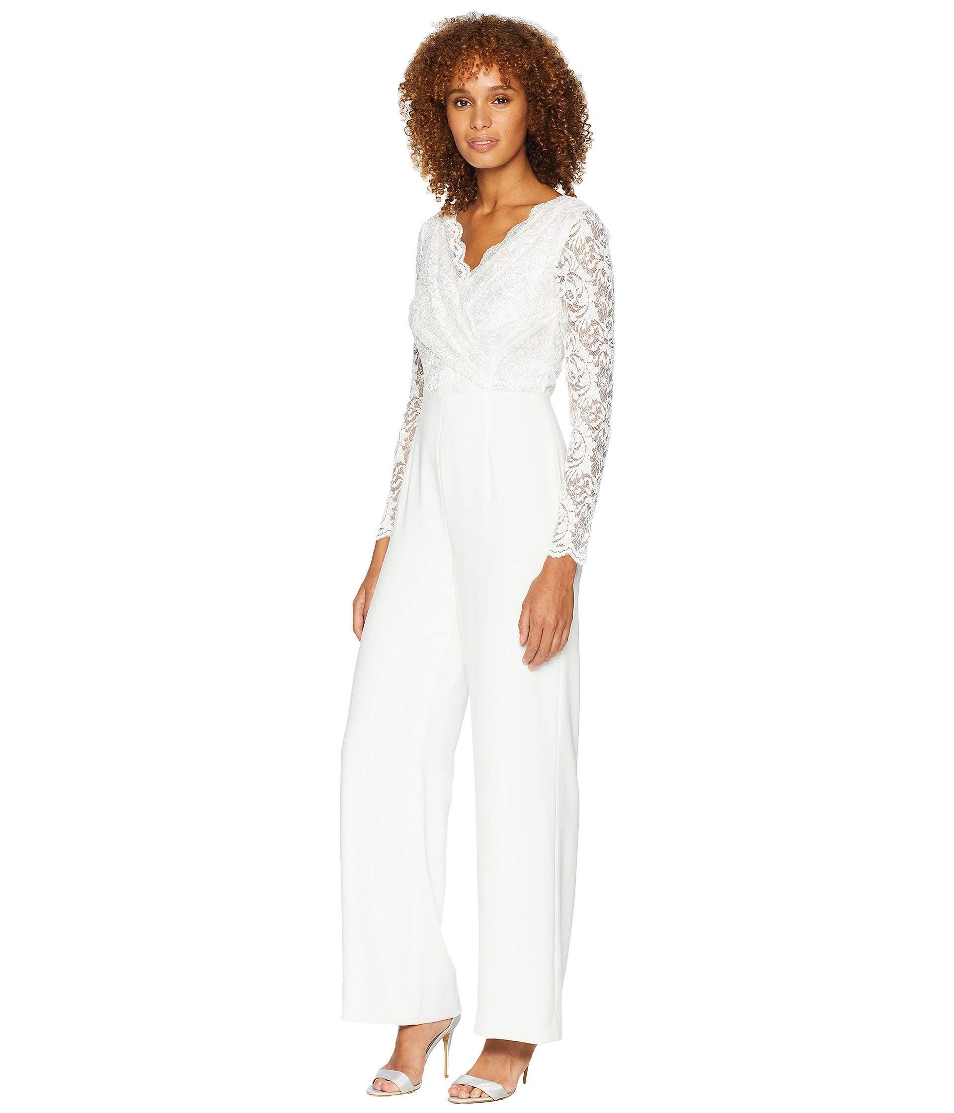 82e66c890c51e White Long Sleeve V Neck Jumpsuit