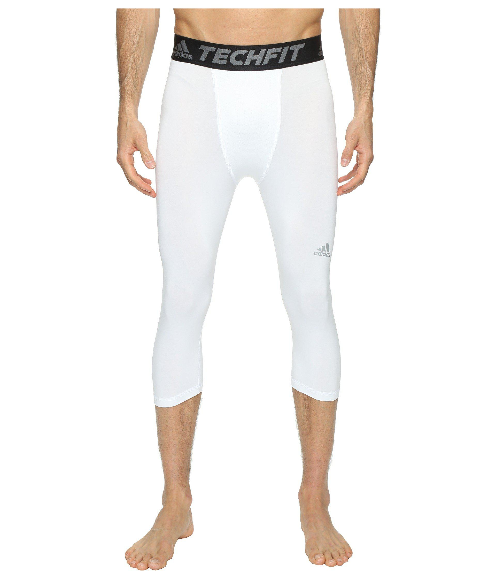 8a7f8bab91 Lyst - adidas Techfit Base 3/4 Tights in White for Men