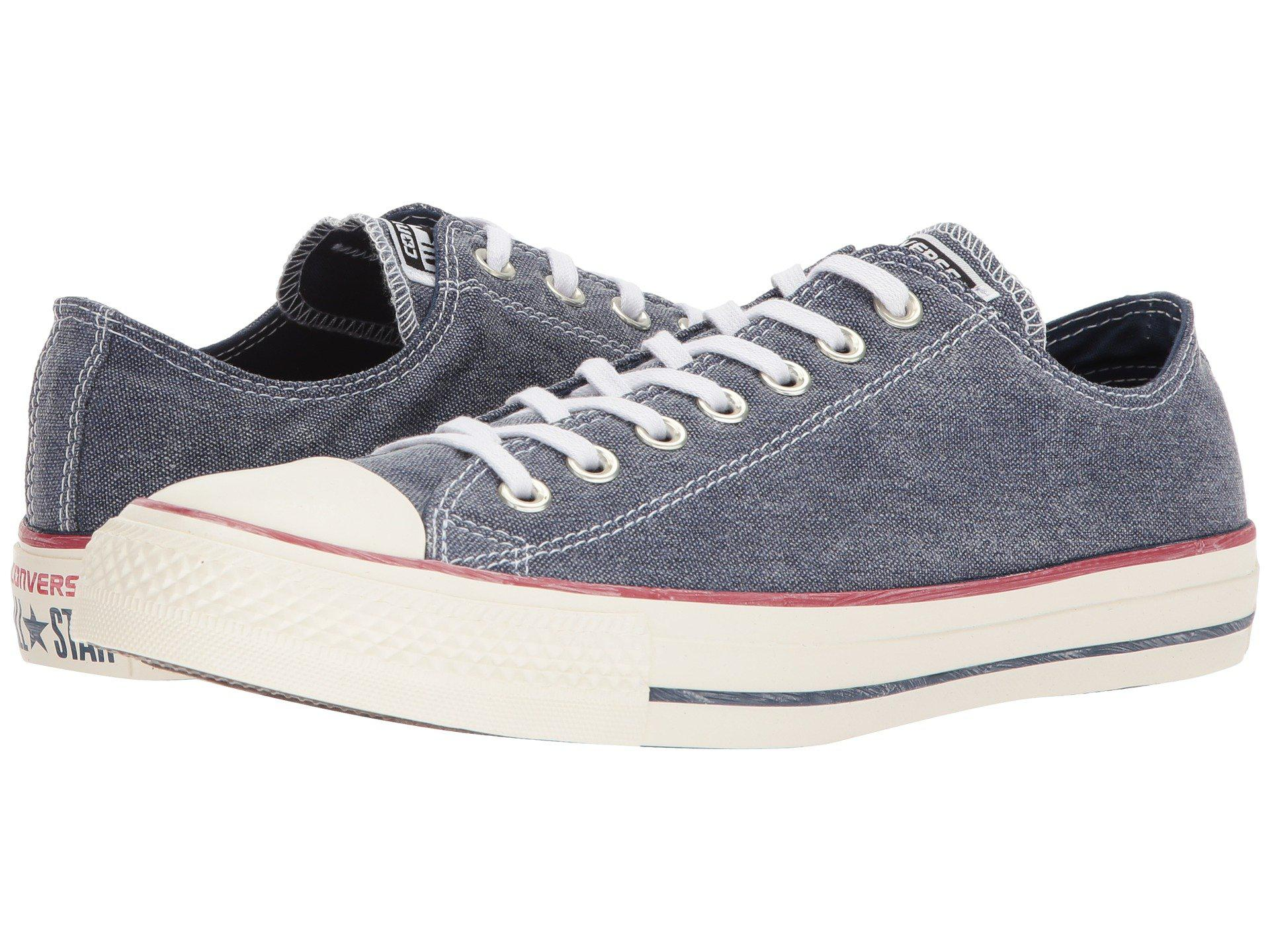011975f19eed Lyst - Converse Chuck Taylor® All Star Stone Wash Canvas Ox in Blue