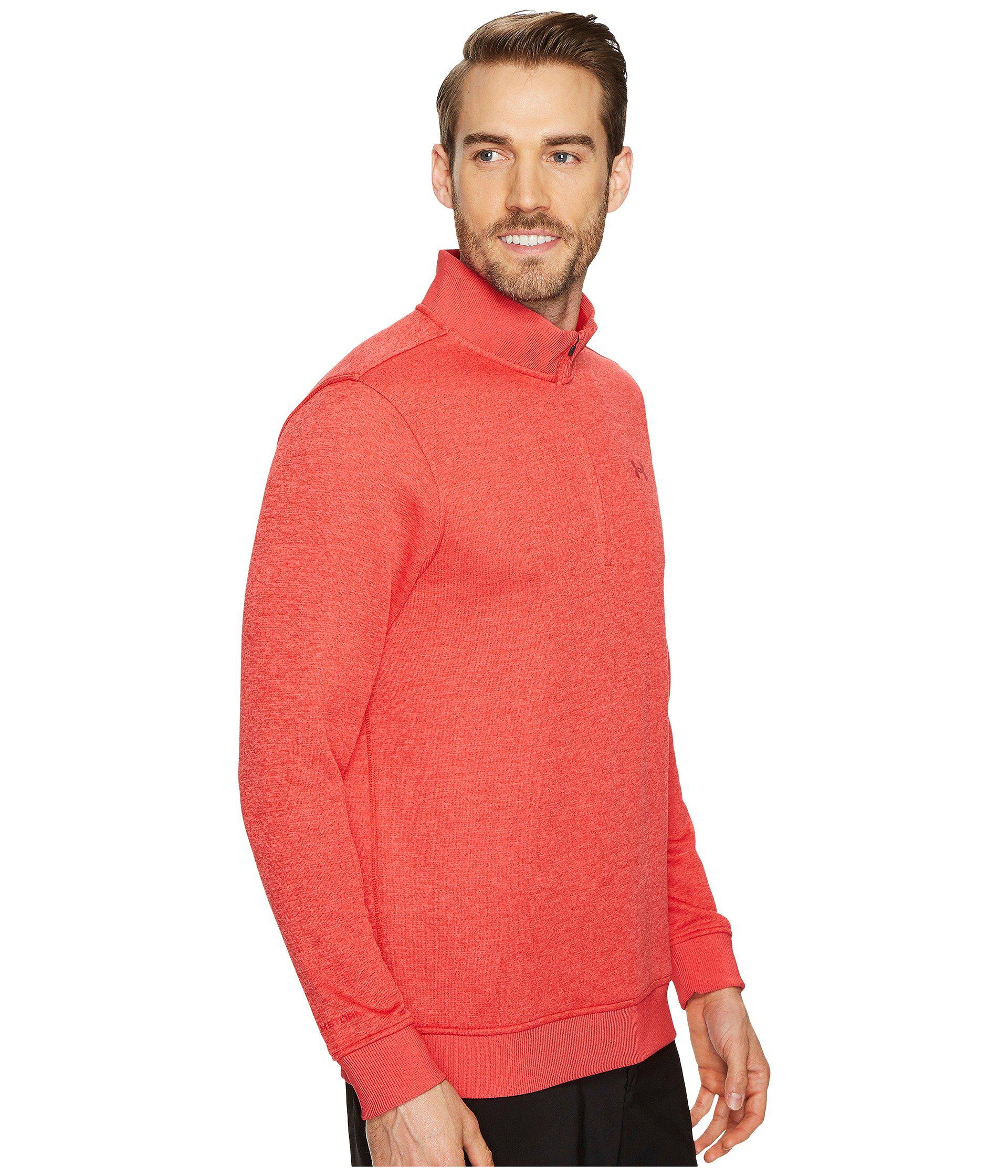 2fcc2e1739a2 Lyst - Under Armour Ua Storm Sweaterfleece 1 4 Zip in Red for Men