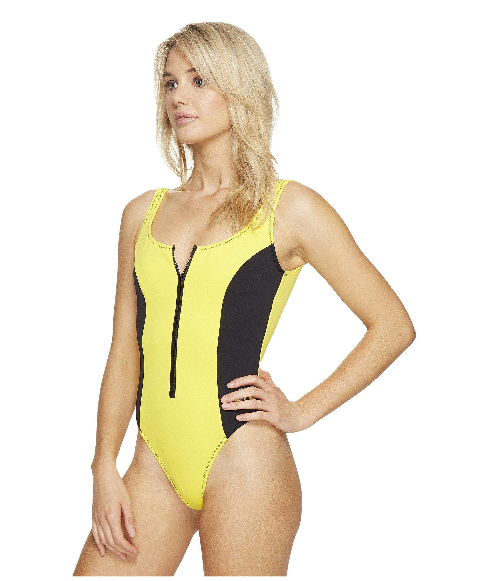 7e24d47986ed0 Body Glove 80's Throwback Time After Time One-piece in Yellow - Lyst