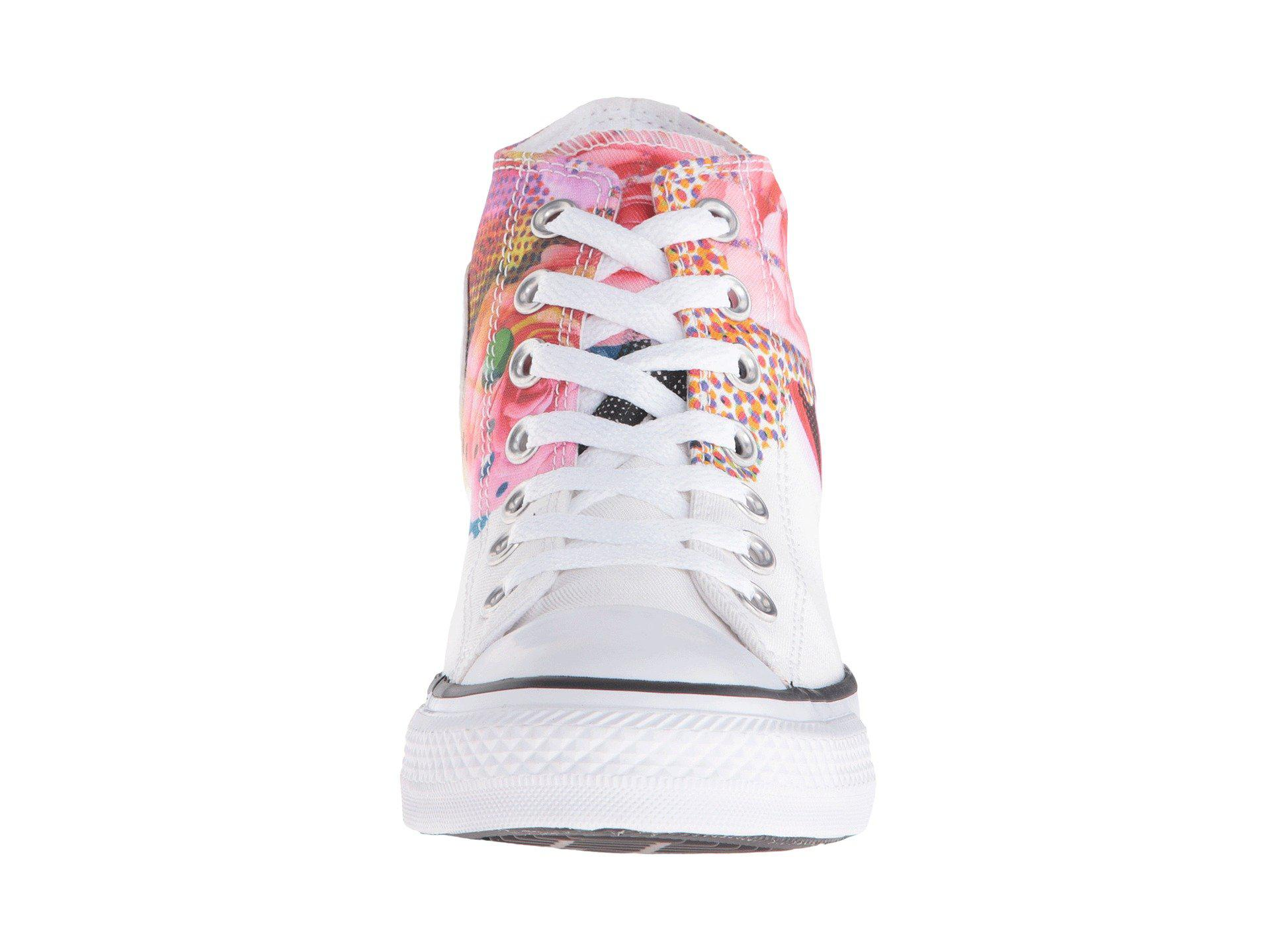 9b6de84c644d Lyst - Converse Chuck Taylor® All Star® Lux Digital Floral Print Mid ...