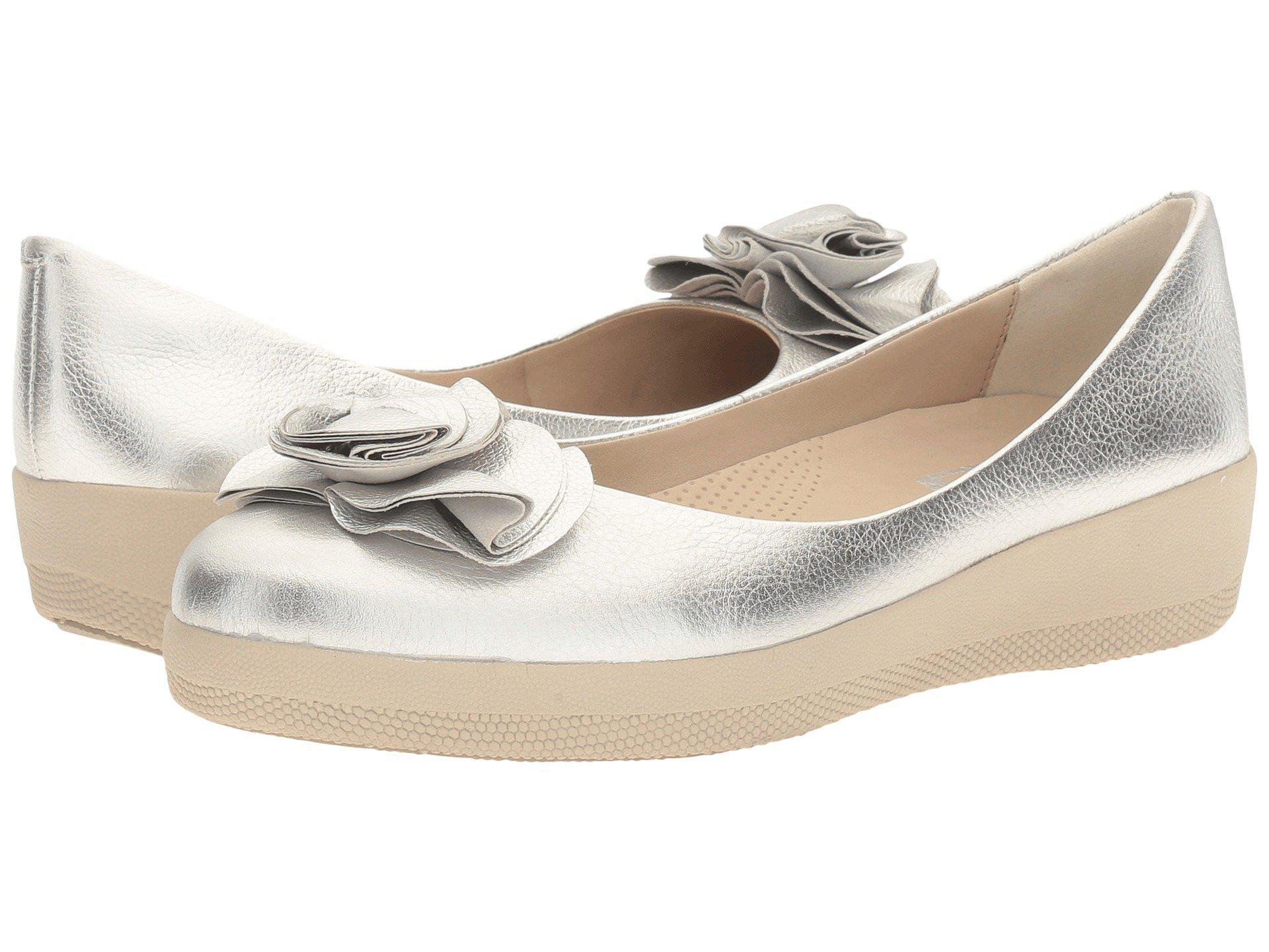 8253c7a10d0512 Lyst - Fitflop Florrie Superballerina Ballet Flat in Metallic - Save 45%