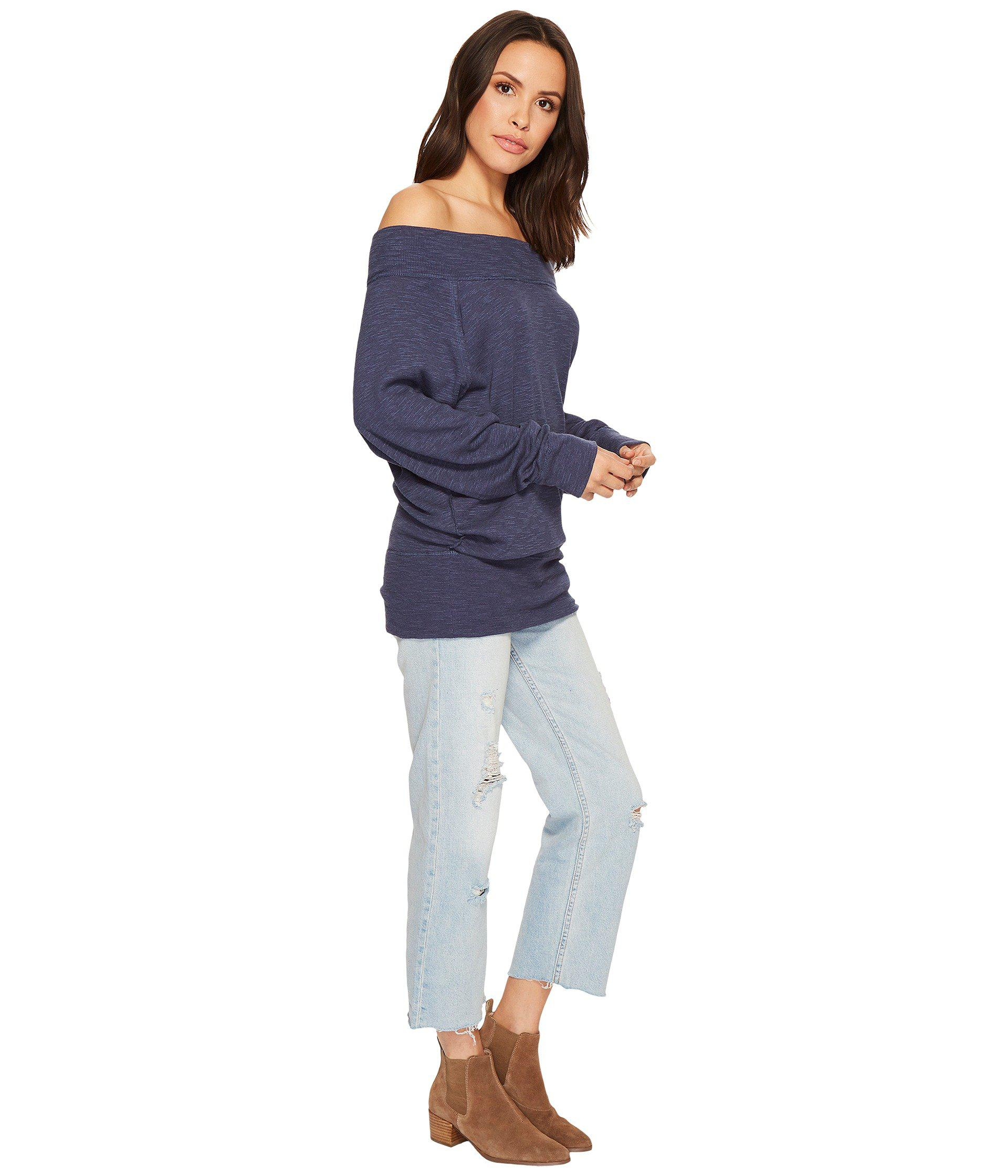 97050dcb18eb2 Lyst - Free People Palisades Thermal in Blue