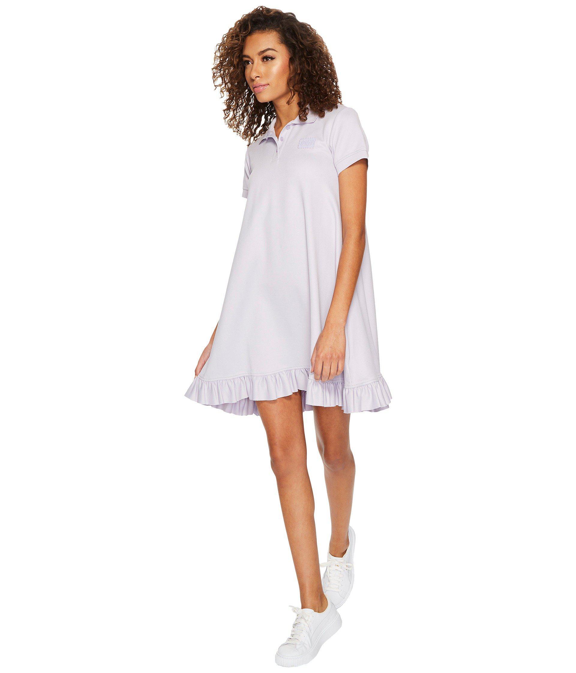 best service 3f2c5 17630 Lyst - PUMA Fenty Polo Swing Mini Dress in White