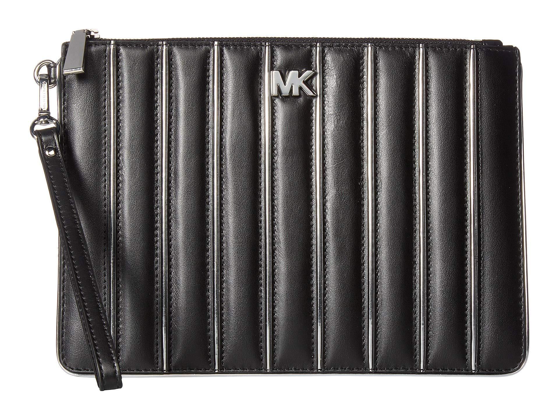 9d4749dbc009 Lyst - MICHAEL Michael Kors Medium Zip Pouch in Black - Save 18%