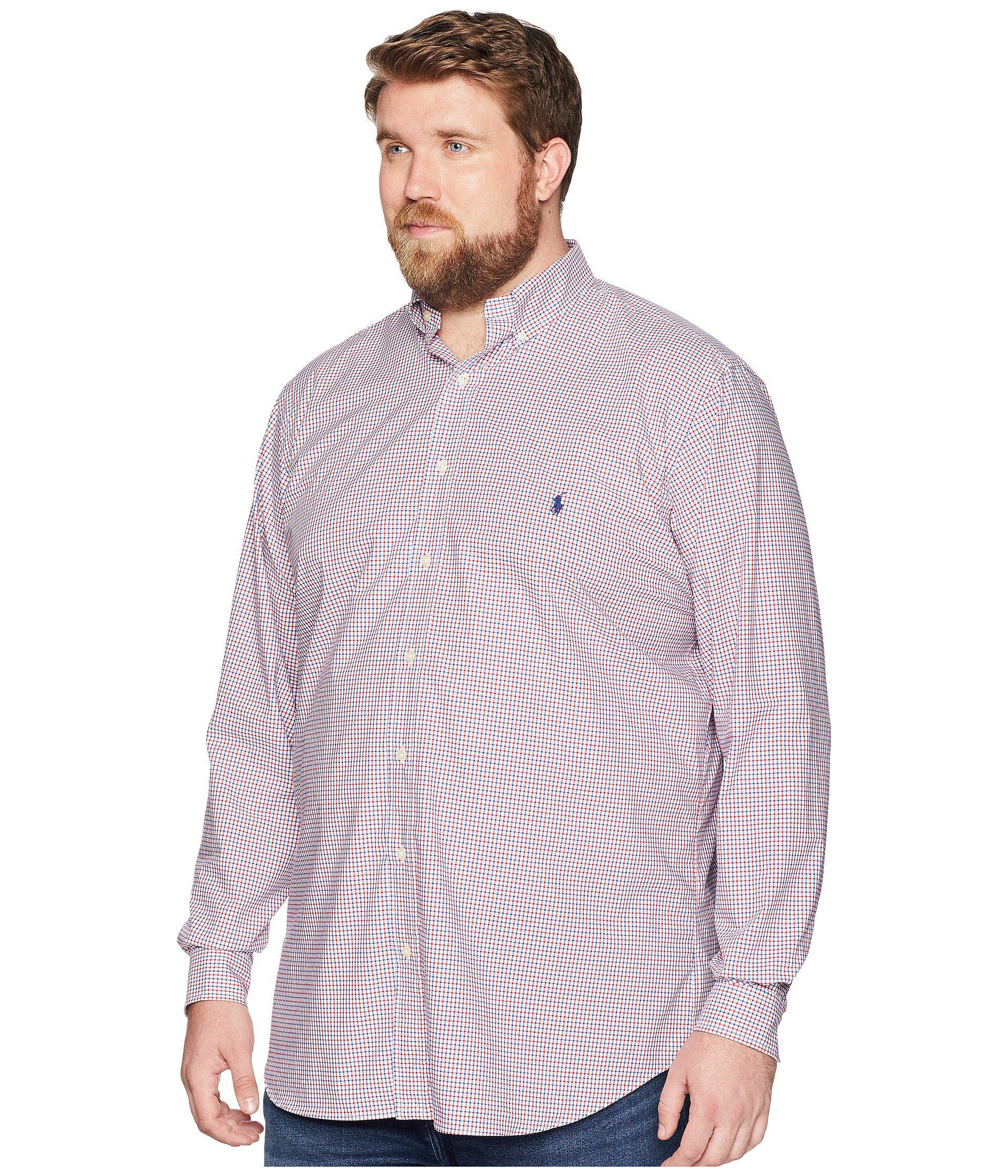 Lyst - Polo Ralph Lauren Big   Tall Poplin Button Down Pony Player Long  Sleeve Sport Shirt for Men 2f4a7d400c944