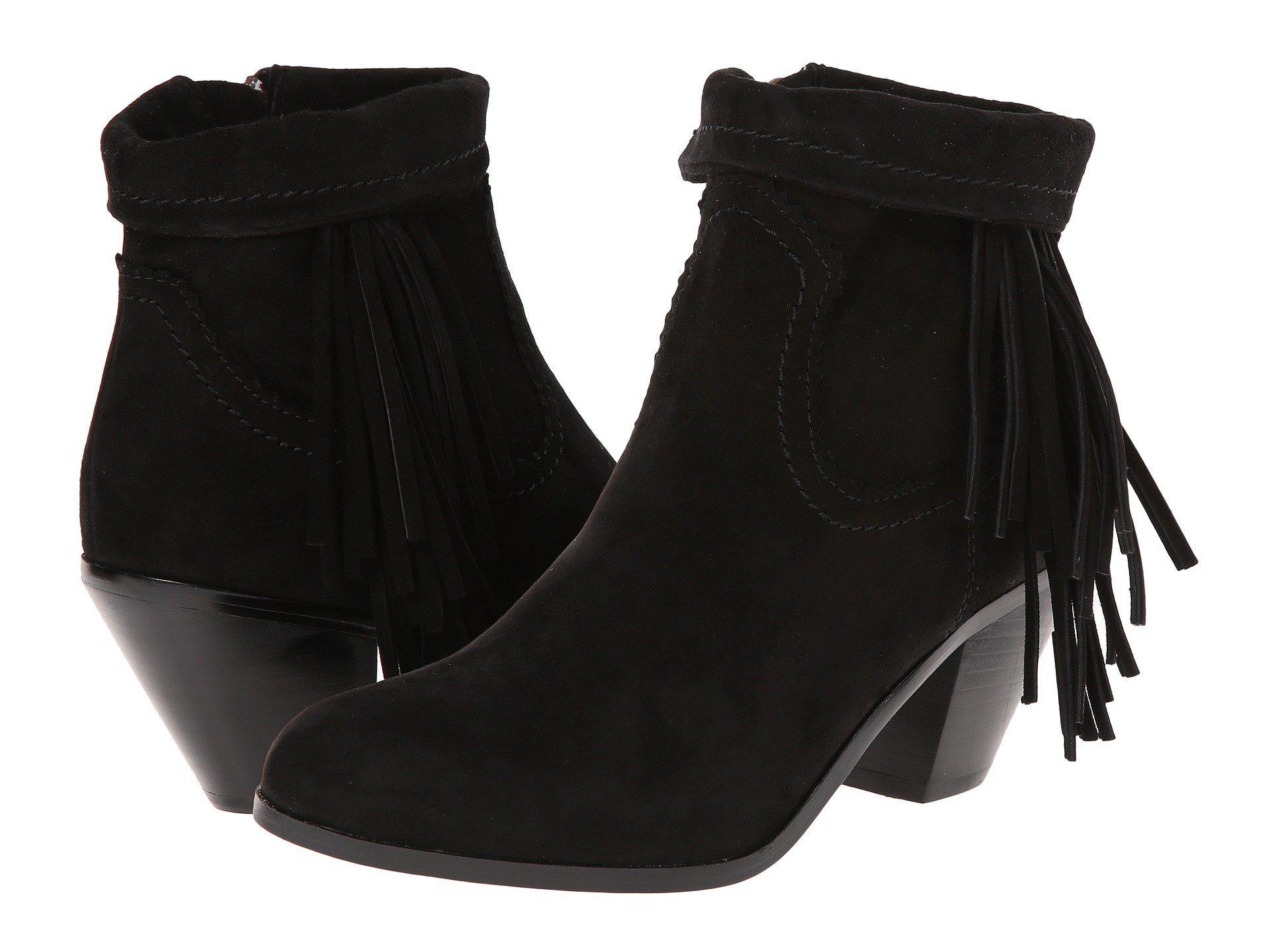 097b9c21d  140 Sam Edelman Louie Fringe Ankle Boots Black Suede Women Sz 10 M ...