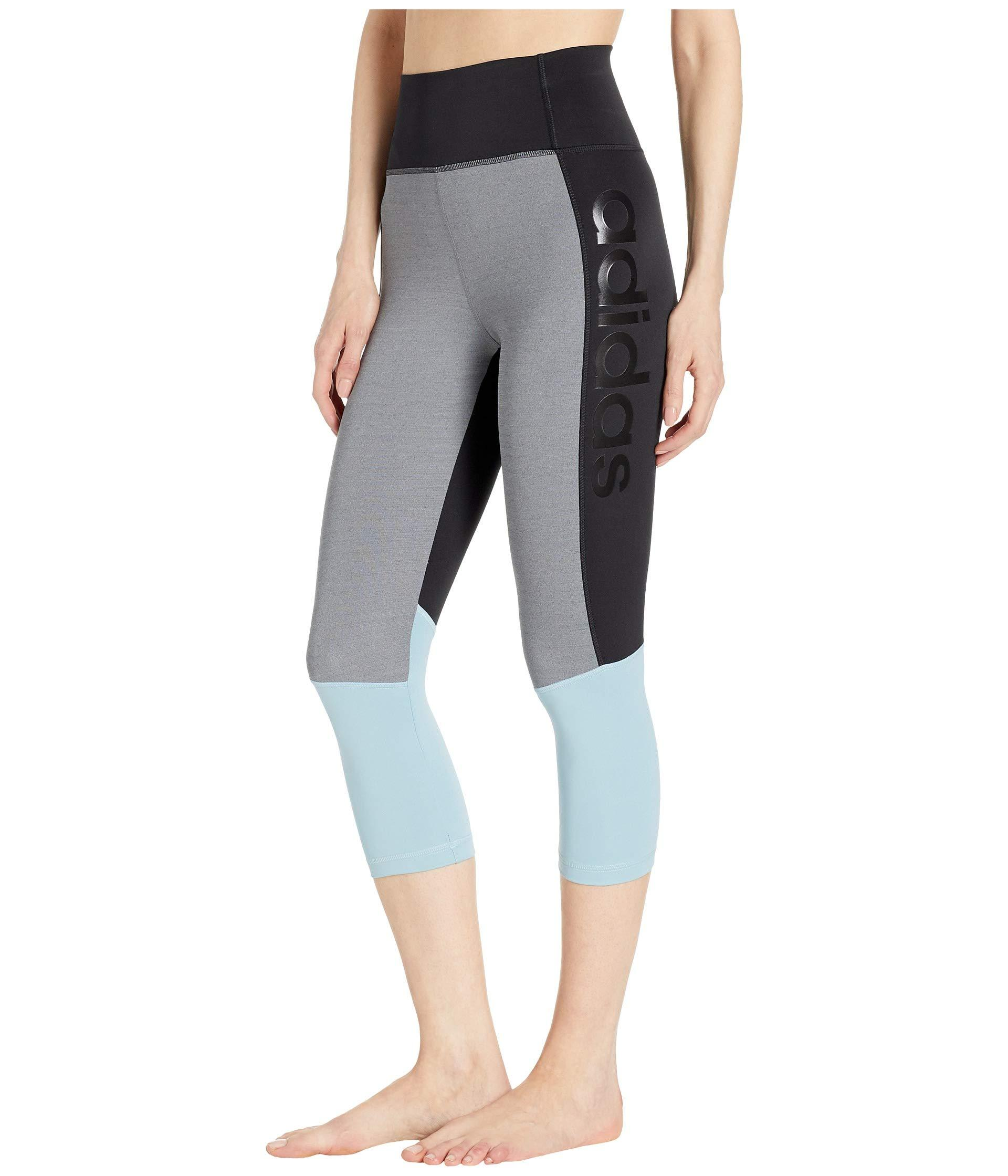 ced193cb8b0 adidas Designed-2-move High-rise 3 4 Tights in Black - Lyst
