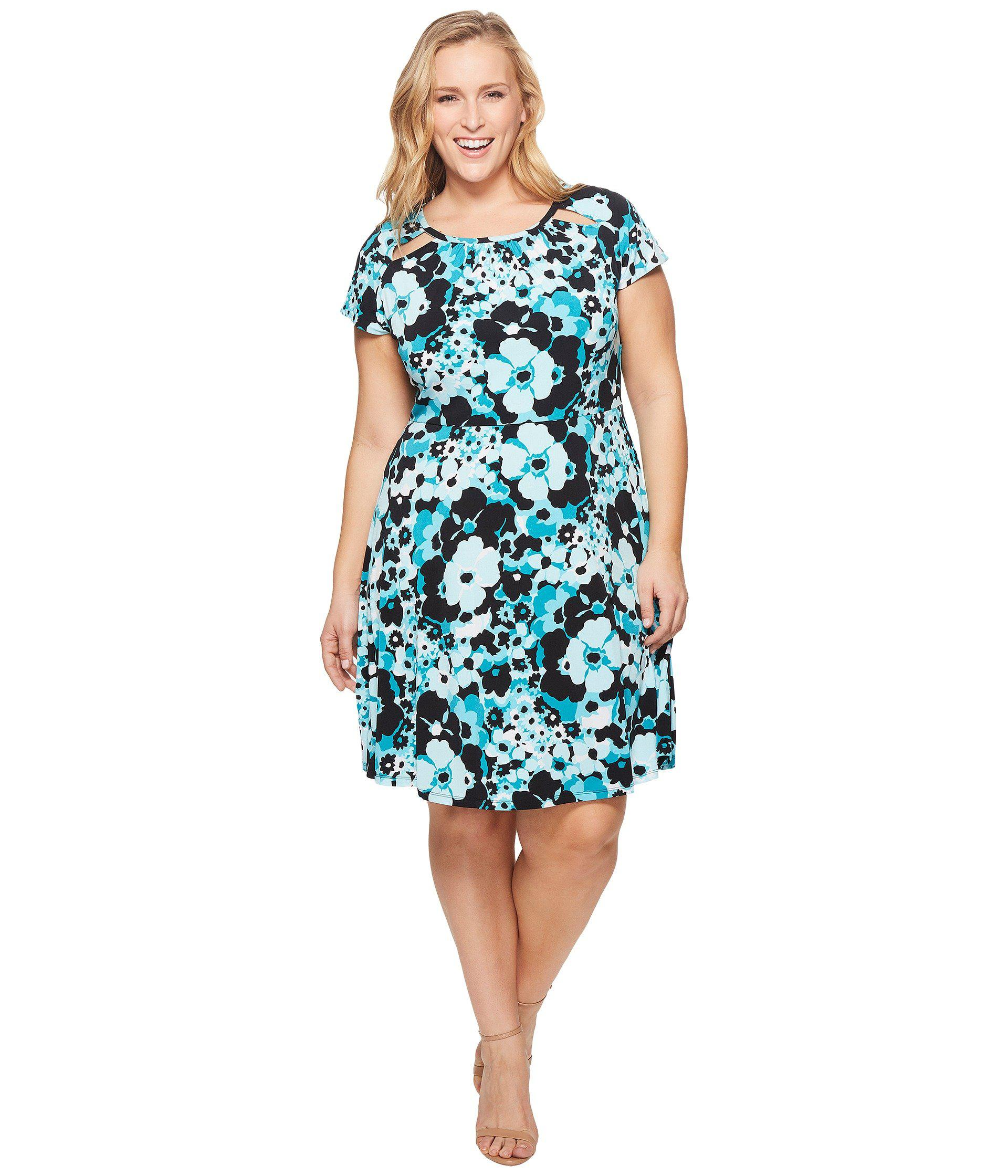 20ac2ad473925 Lyst - MICHAEL Michael Kors Plus Size Springtime Floral Dress in ...