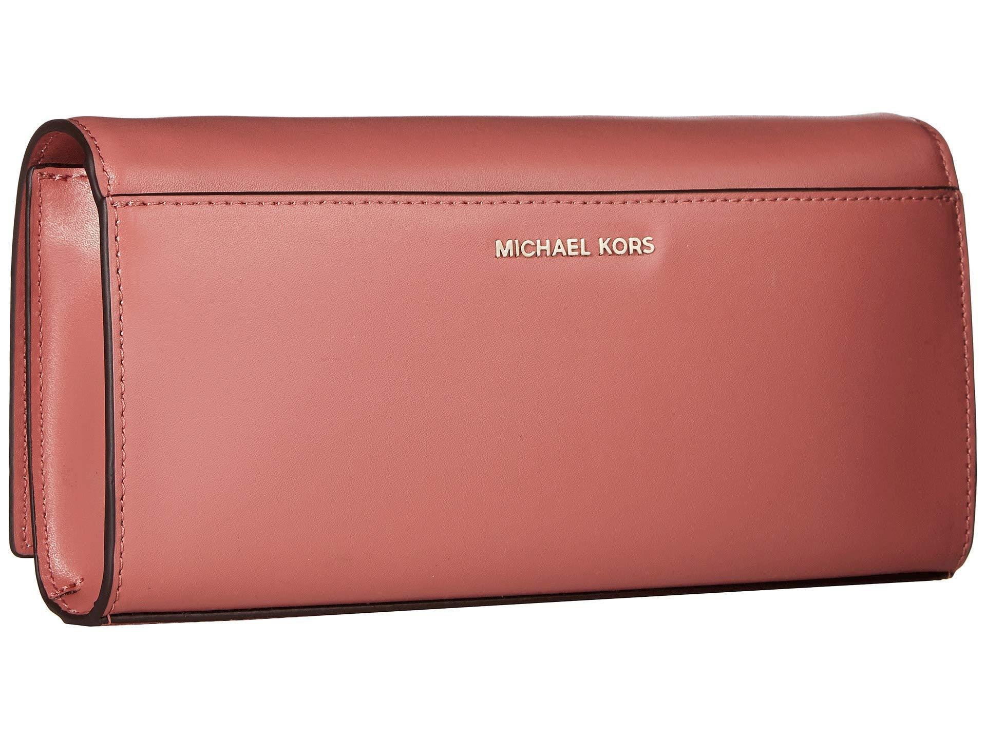 2b036f1bf261 MICHAEL Michael Kors - Pink Bellamie Large Clutch - Lyst. View fullscreen