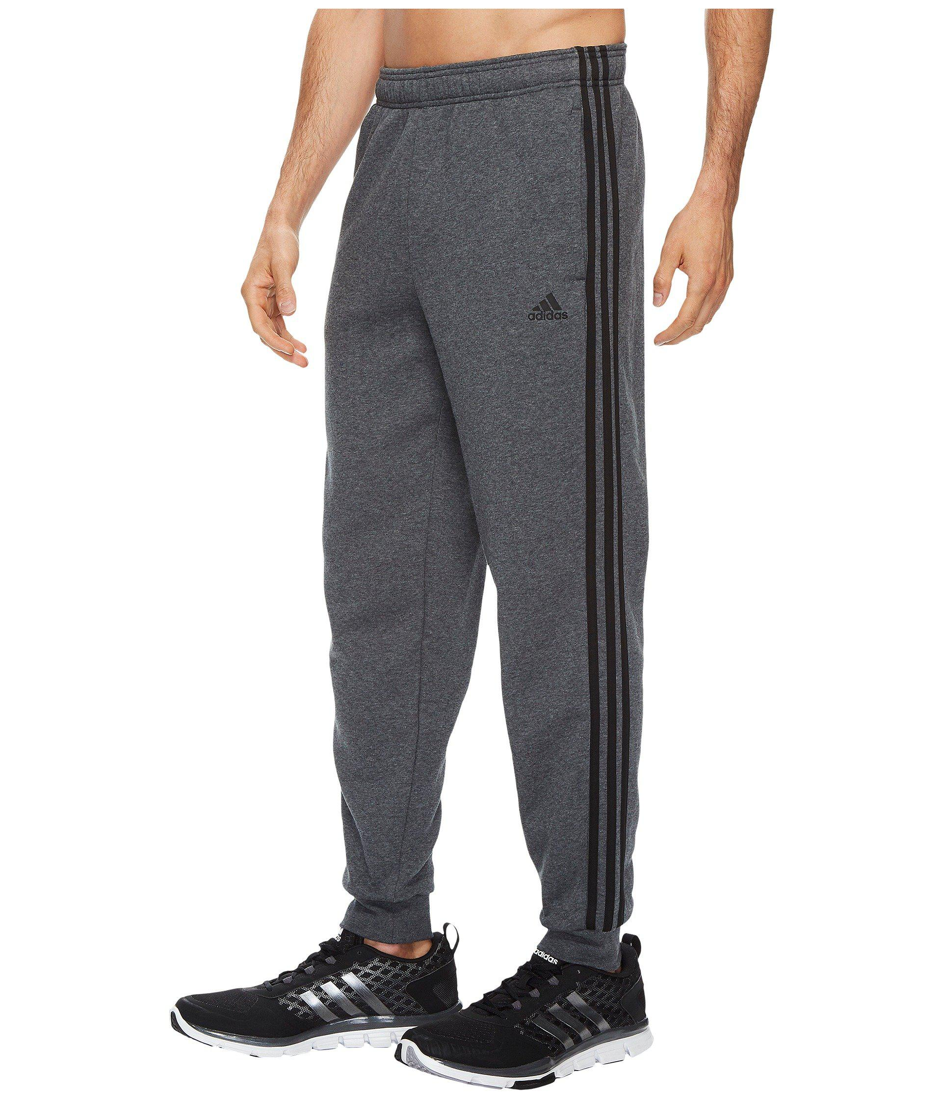 Lyst adidas Essentials 3s Tapered & Cuffed Pants in Gray