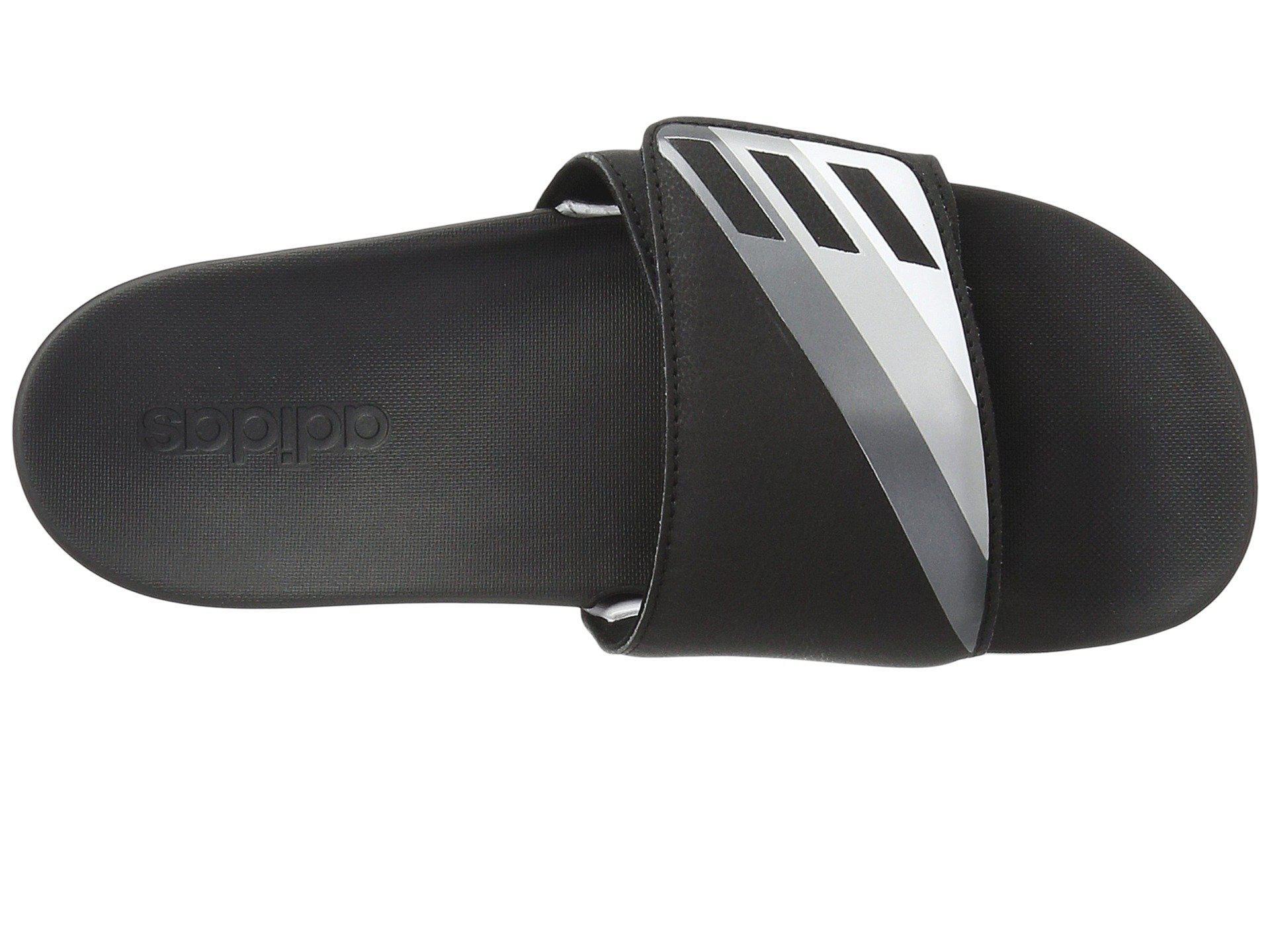 c0a9174340b Lyst - adidas Adilette Cloudfoam Ultra Adjustable in Black