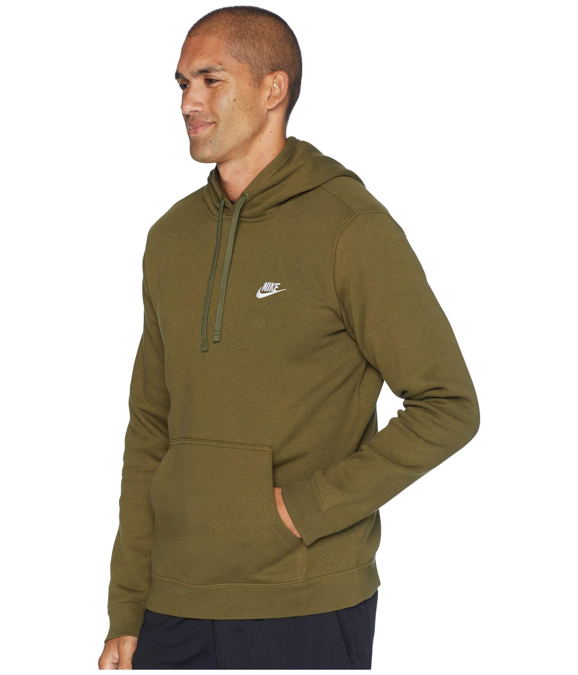 7f61bcc8da098 Lyst - Nike Club Fleece Pullover Hoodie in Green for Men