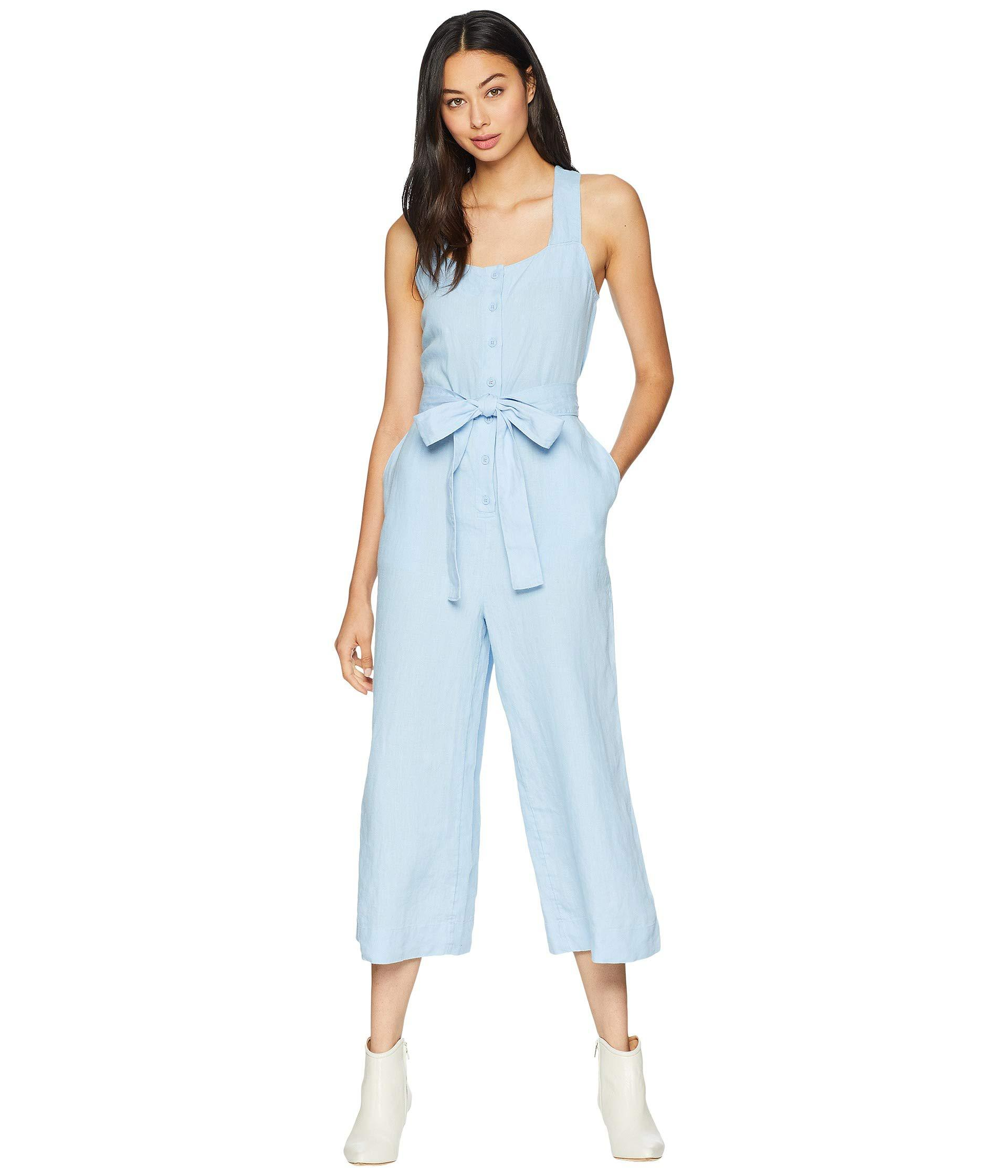 3a45f58aa3 Lyst - Juicy Couture Washed Linen Jumpsuit in Blue