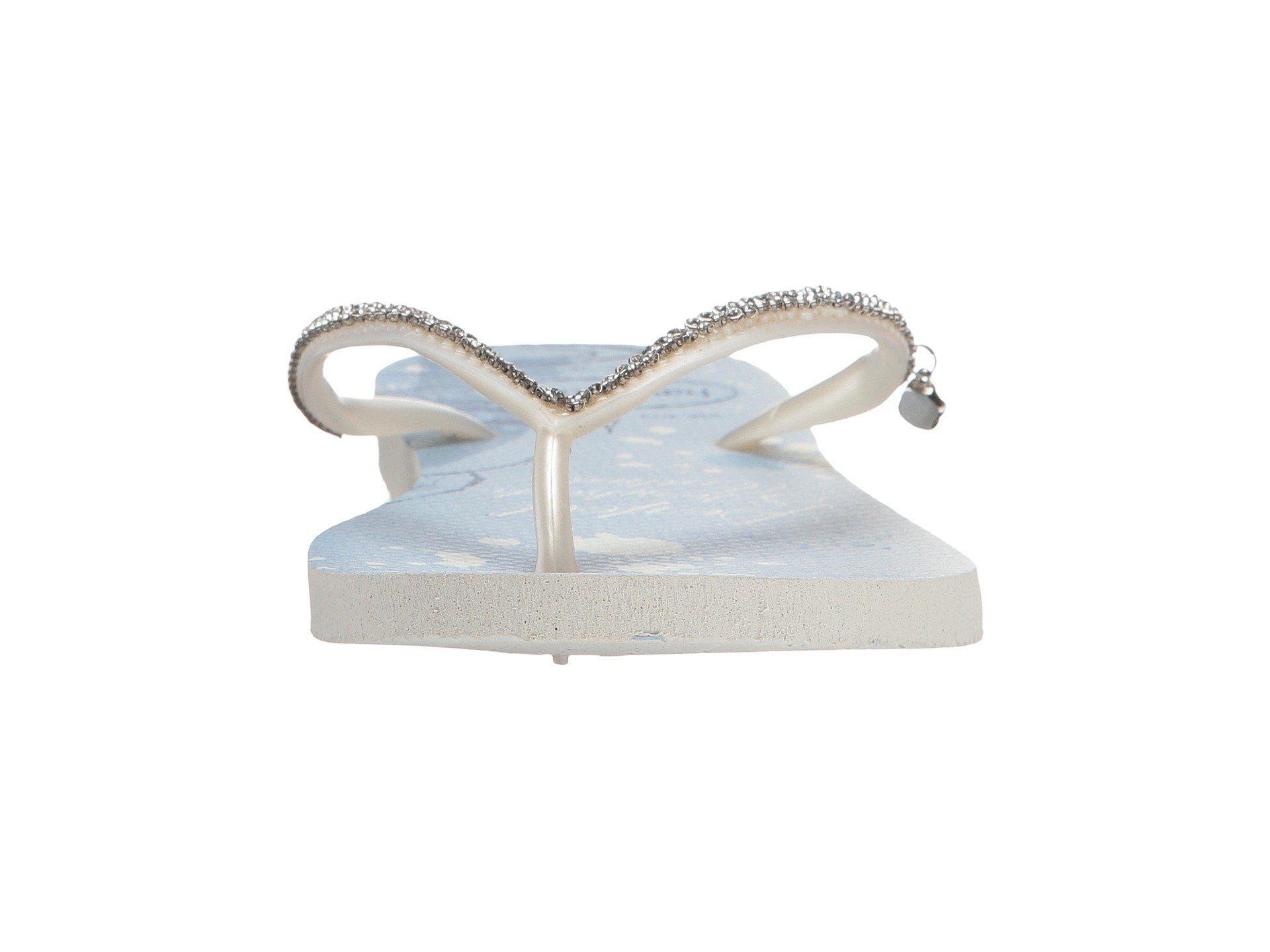 73c9d6090 Lyst - Havaianas Slim Bridal Belle Sandal in White