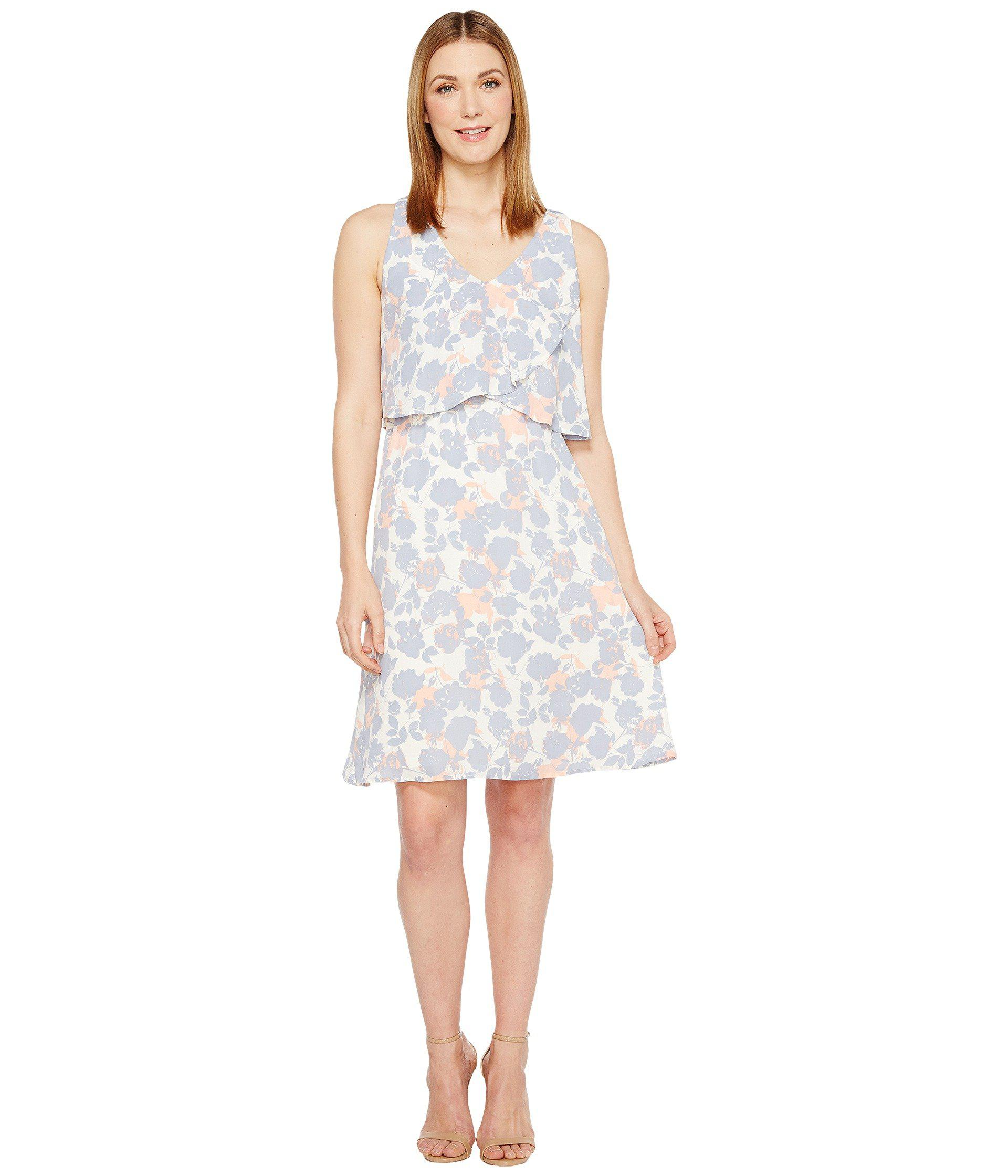 86fc485e2fe1 B Collection By Bobeau Lane Double V Woven Dress in White - Lyst