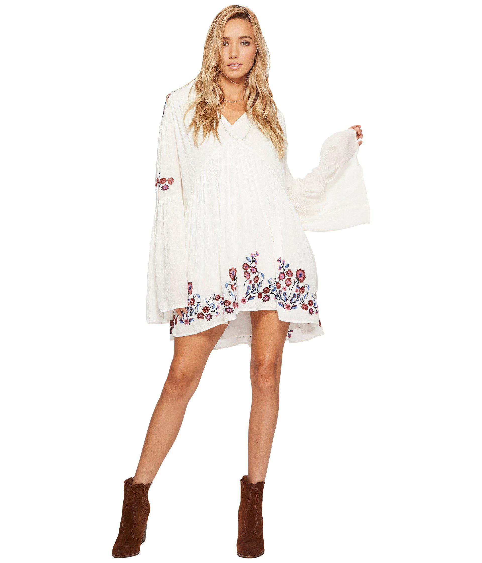 37e4e77f4445 Free People Te Amo Mini Dress in White - Lyst
