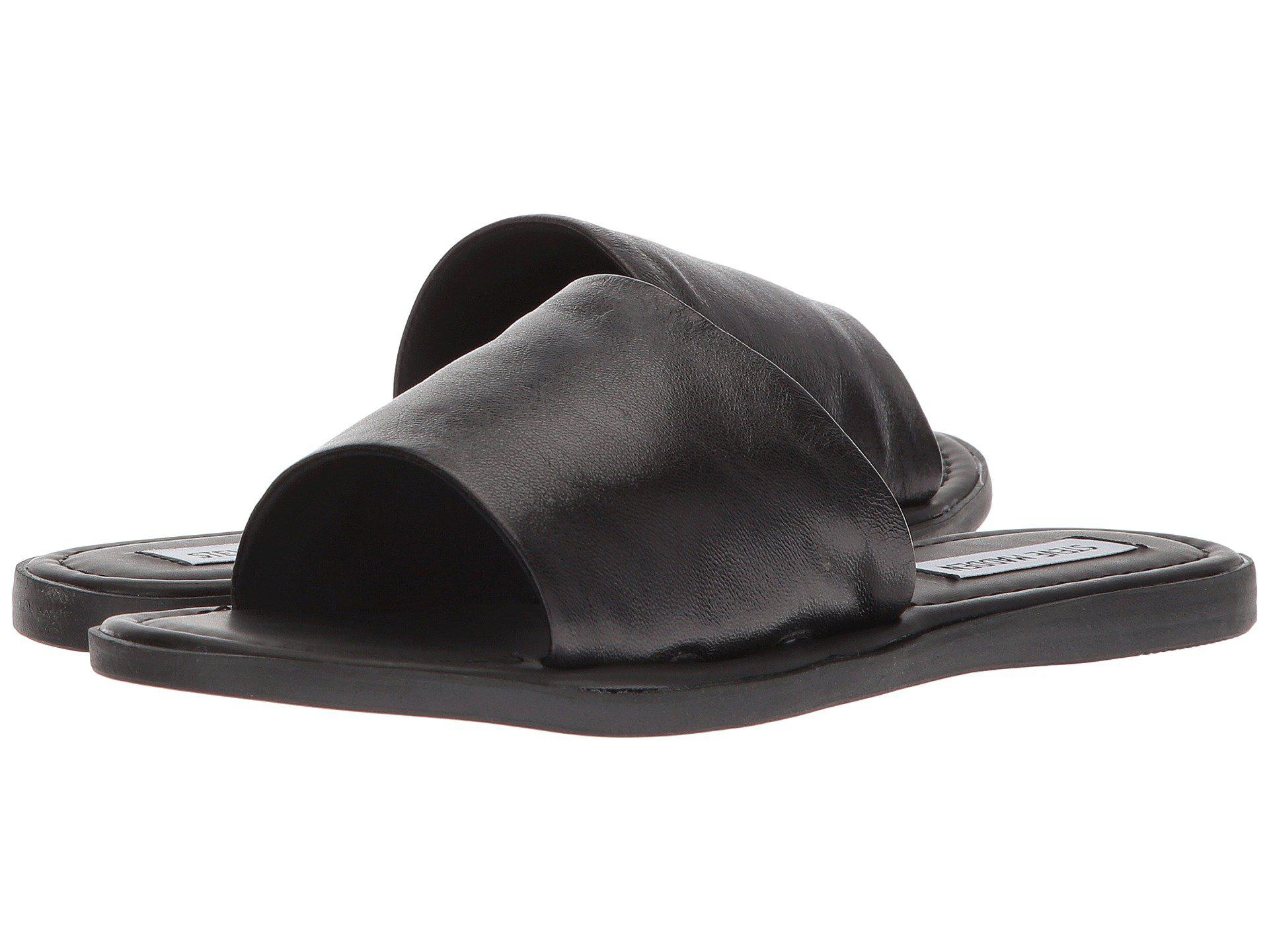 7dd414c96aa8 Lyst - Steve Madden Camilla Flat Sandal in Black