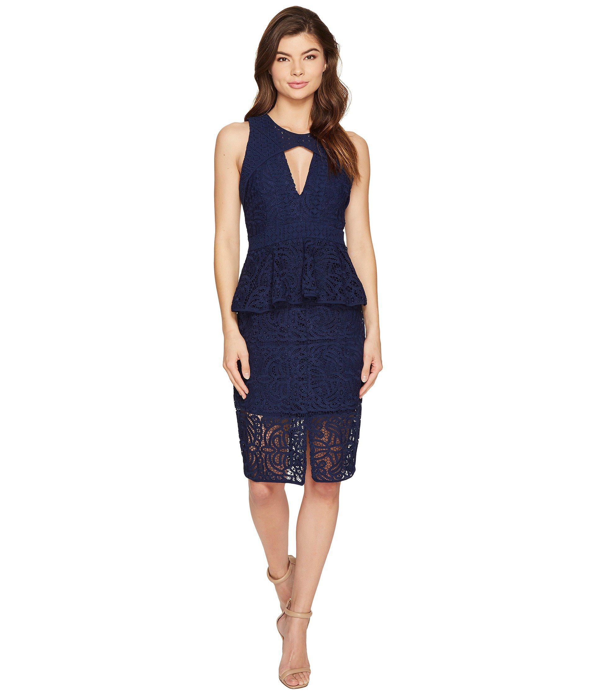 Lyst - Adelyn Rae Laureen Woven Lace Sheath Dress in Blue bfc0cbcc0d
