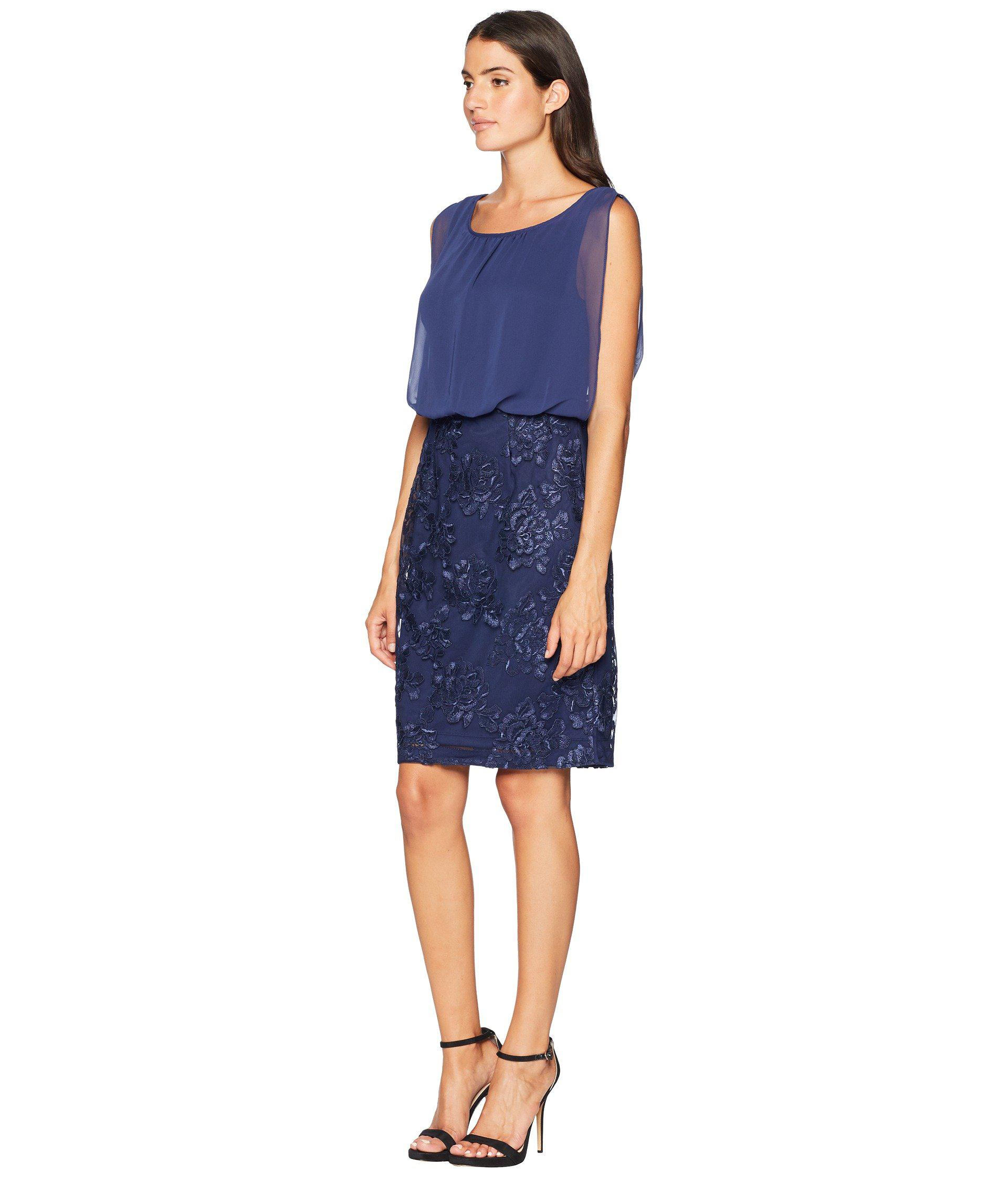 888f4f2807ca2f Lyst - Calvin Klein Embroidered Bottom Twofer Dress Cd8bl7kt in Blue - Save  36%