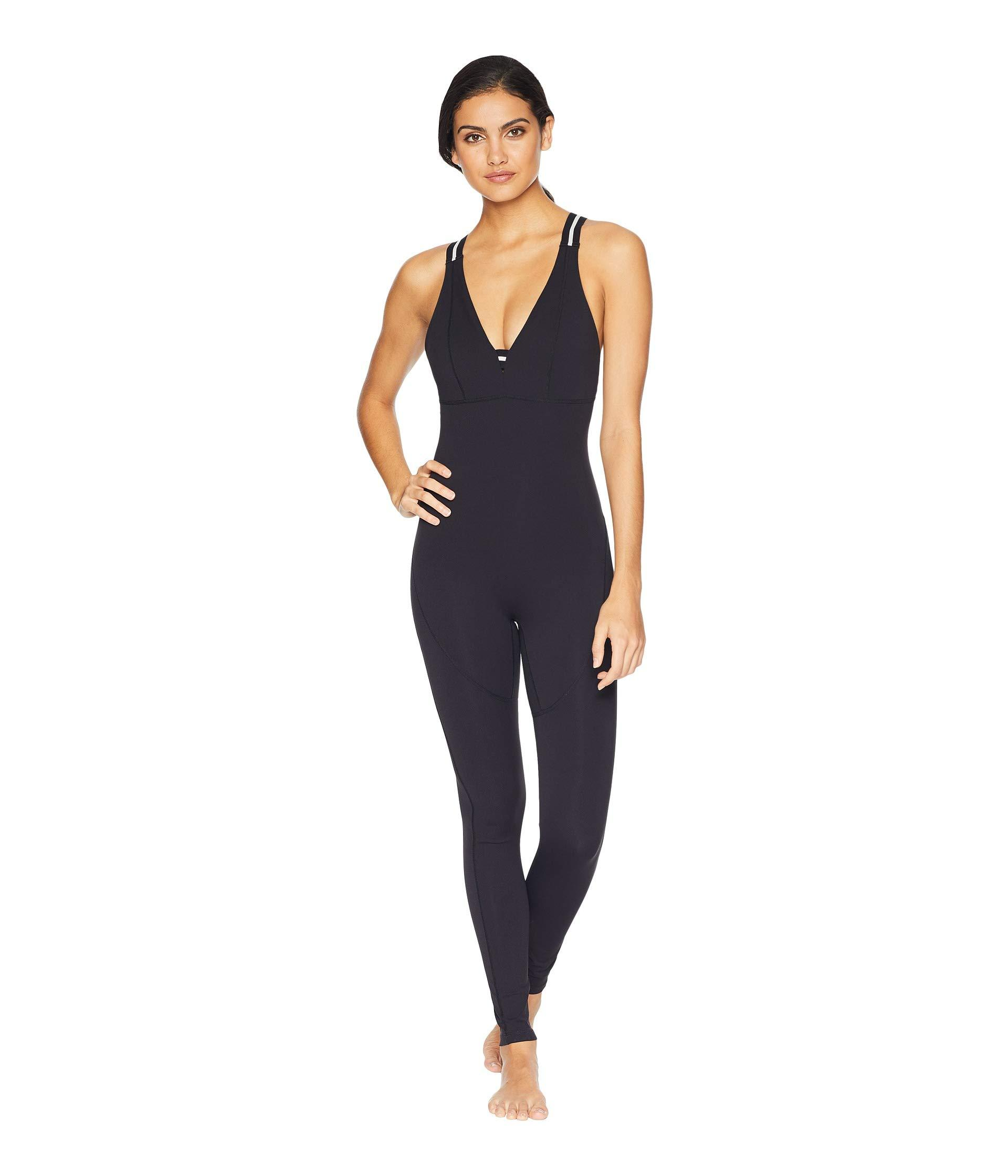 21388392945 Lyst - Free People Full-length Serene Catsuit in Black