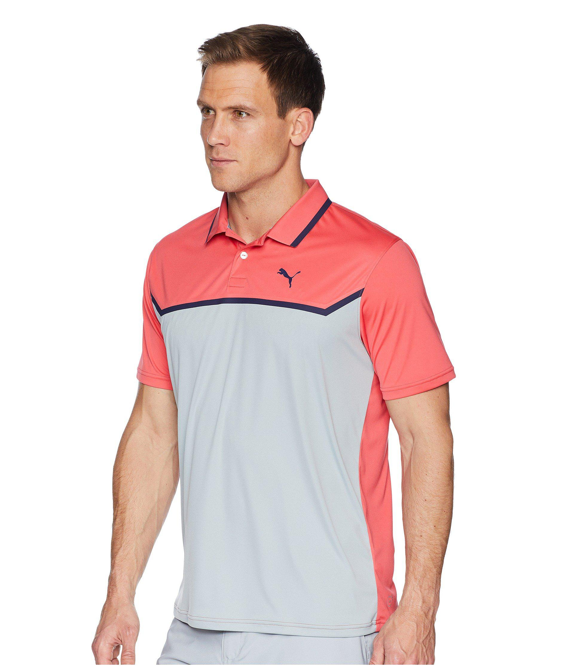 7ed982e6ef11 Lyst - PUMA Bonded Tech Polo in Pink for Men - Save 39%