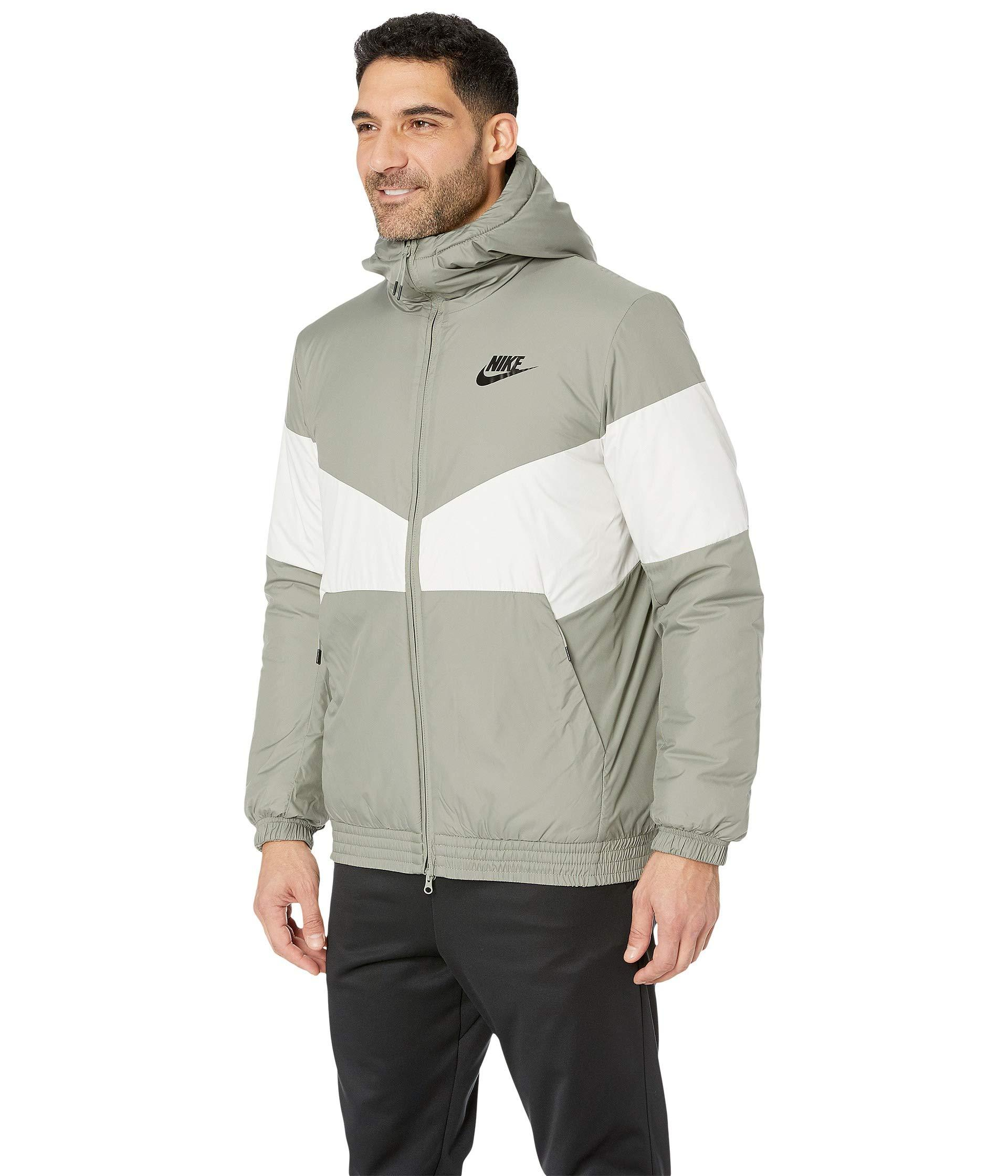 0098b85e4 Nike Nsw Synthetic Fill Jacket Hoodie in Gray for Men - Lyst