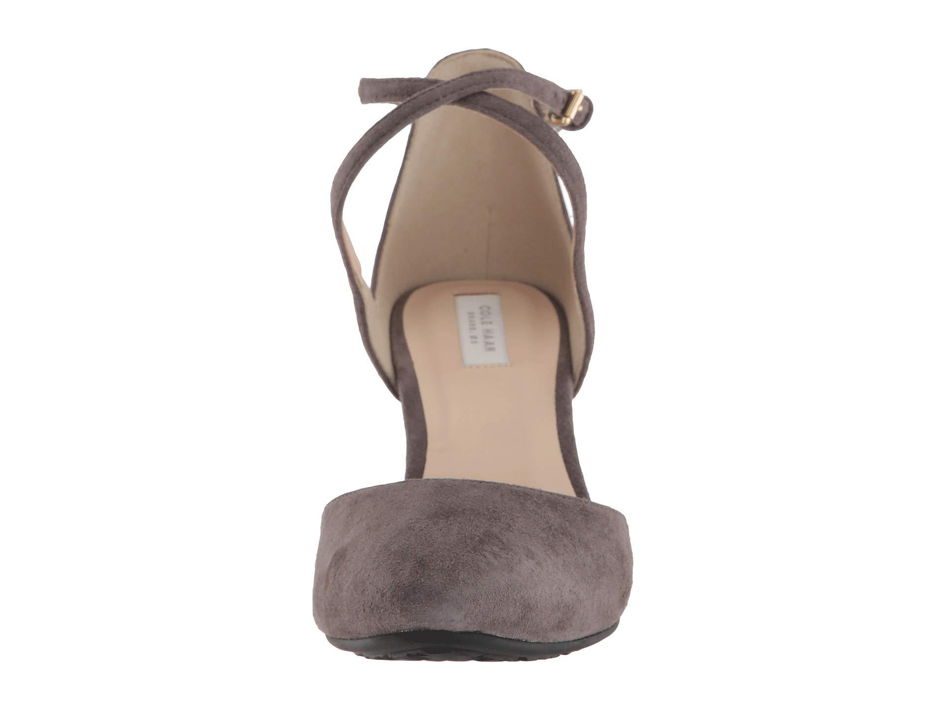 aa7512d85e7b Lyst - Cole Haan Lacey Wedge Ankle Strap 75mm - Save 45%